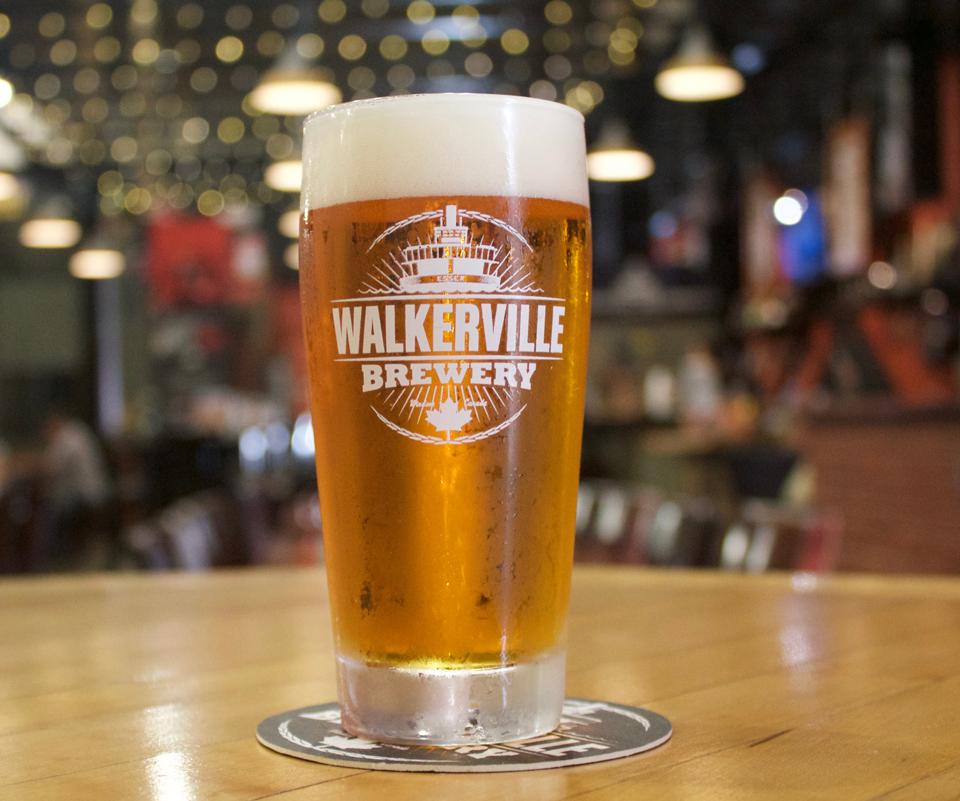 Honest Lager from Walkerville Brewery in Windsor, Ontario.