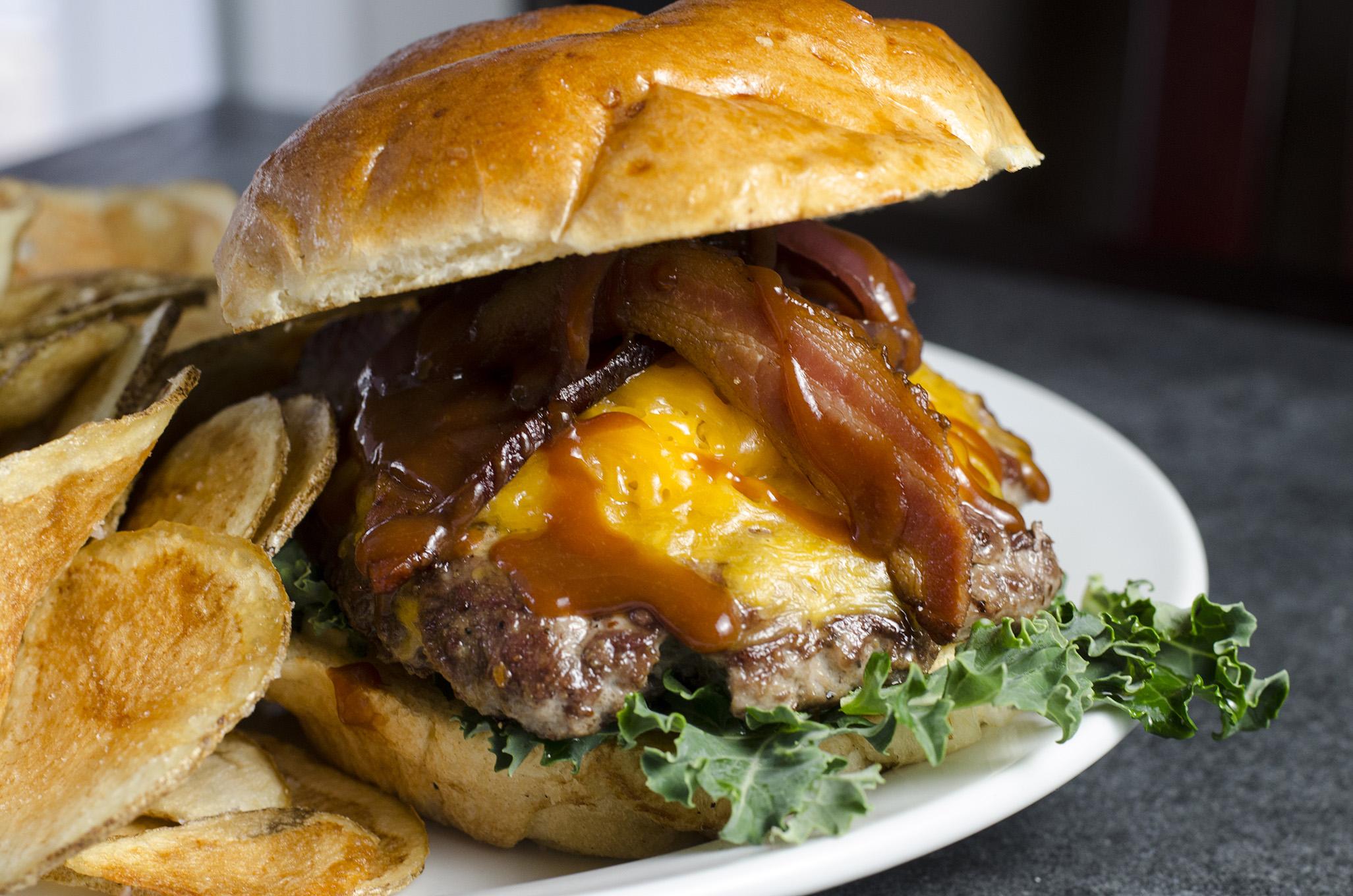 The Beacon Burger from Beacon Ale House in Amherstburg, Ontario.