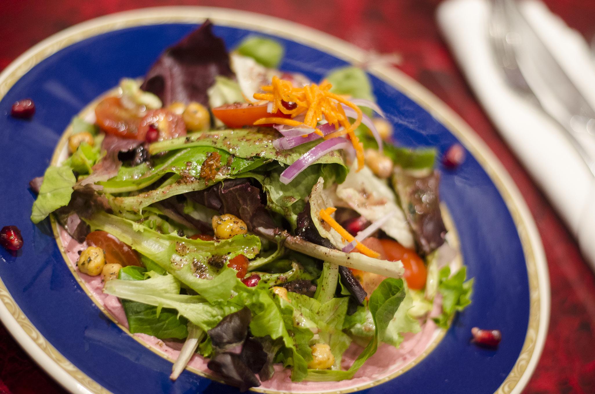 Rocca and beets salad from Mazaar in Windsor, Ontario.
