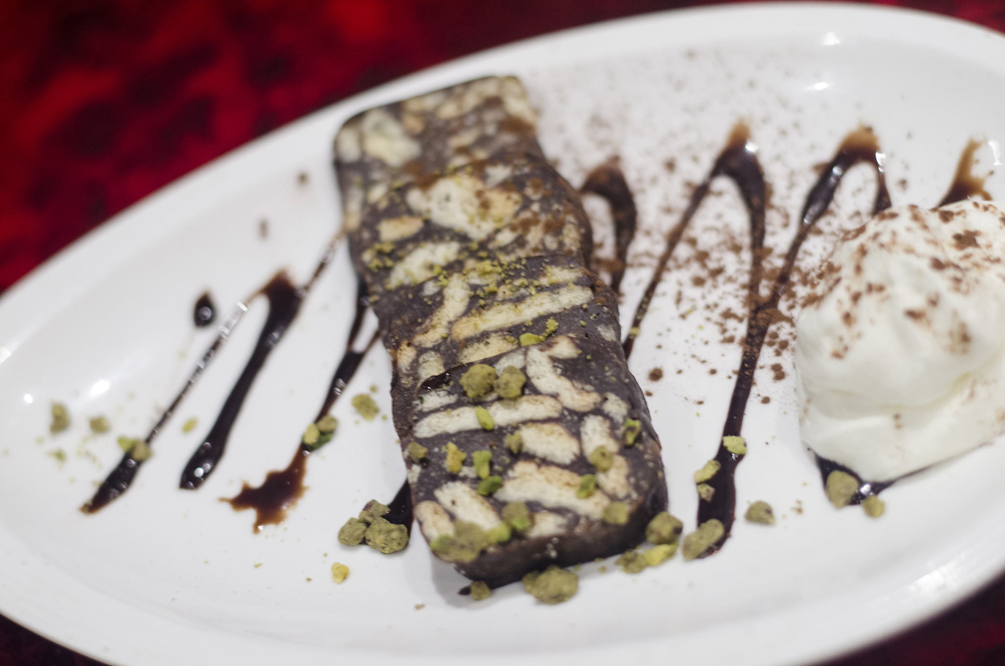Chocolate Mazaar is the signature dessert of Mazaar in Windsor, Ontario.