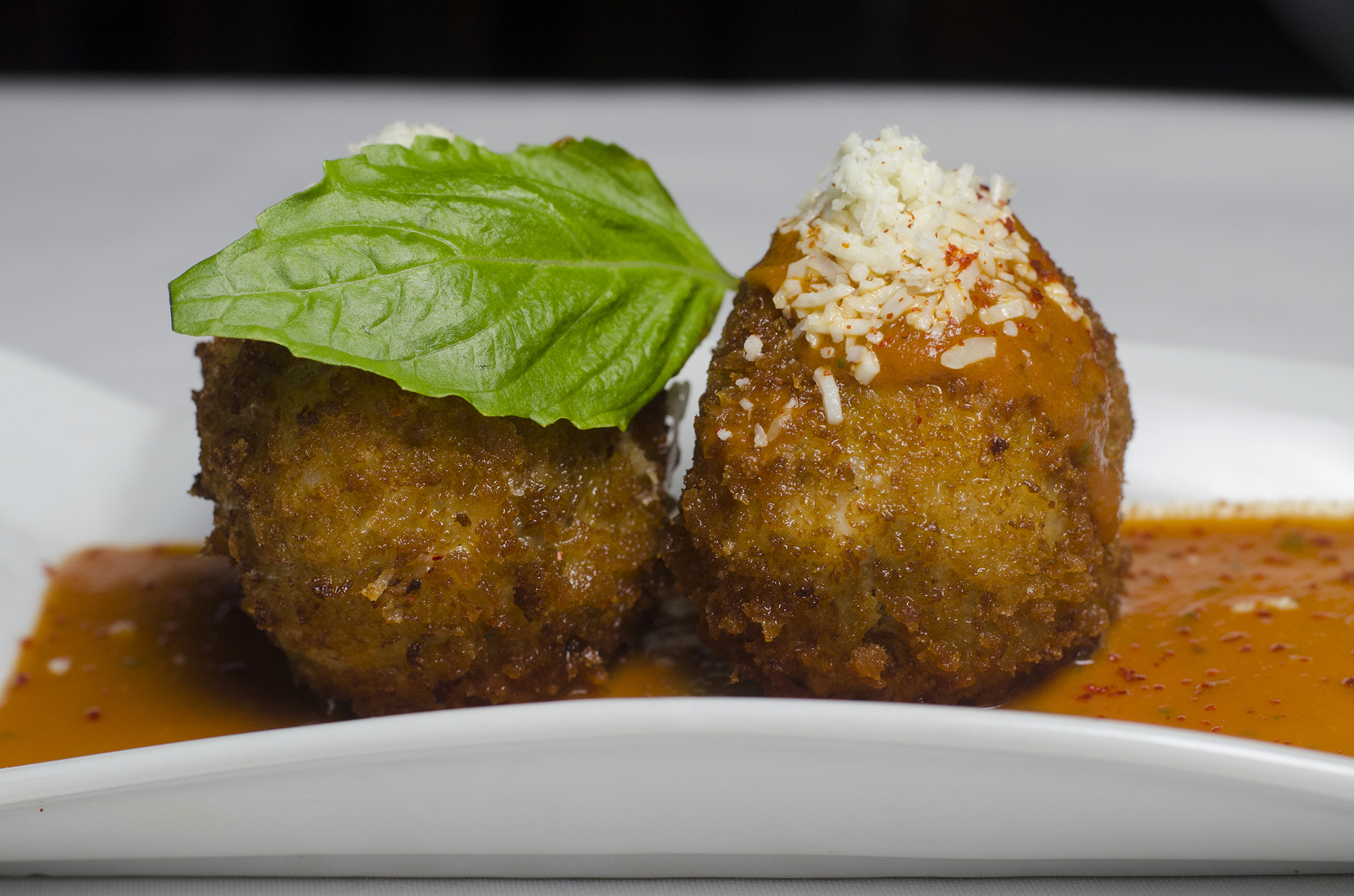 Arancini from Mezzo Restaurant & Lounge in Via Italia on Windsor, Ontario.