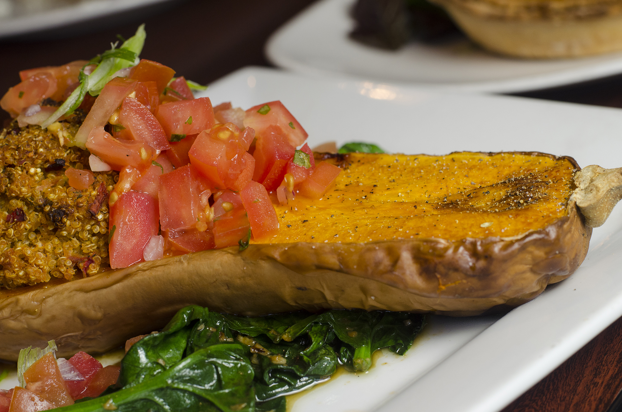 Quinoa stuffed butternut squash from Rino's Kitchen in Windsor, Ontario.