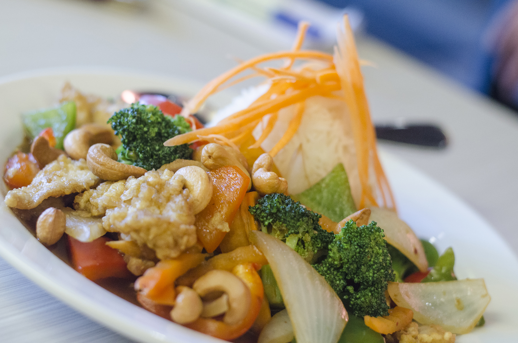 Cashew nuts stir fry from Thai Time in Windsor, Ontario.