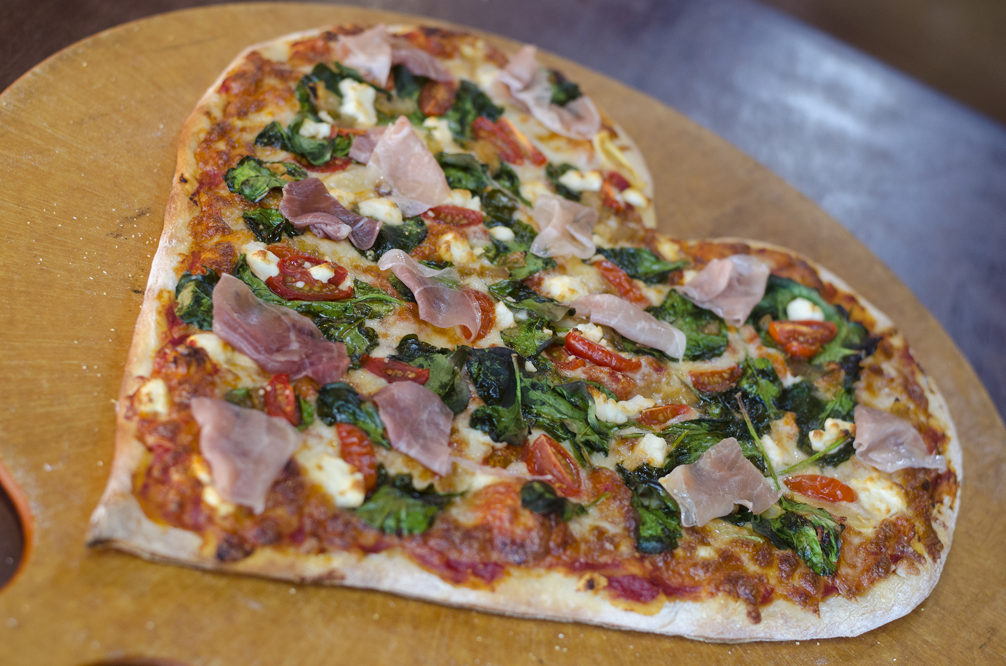 A heart shaped pizza from Arcata Pizzeria is a surefire way to our heart.