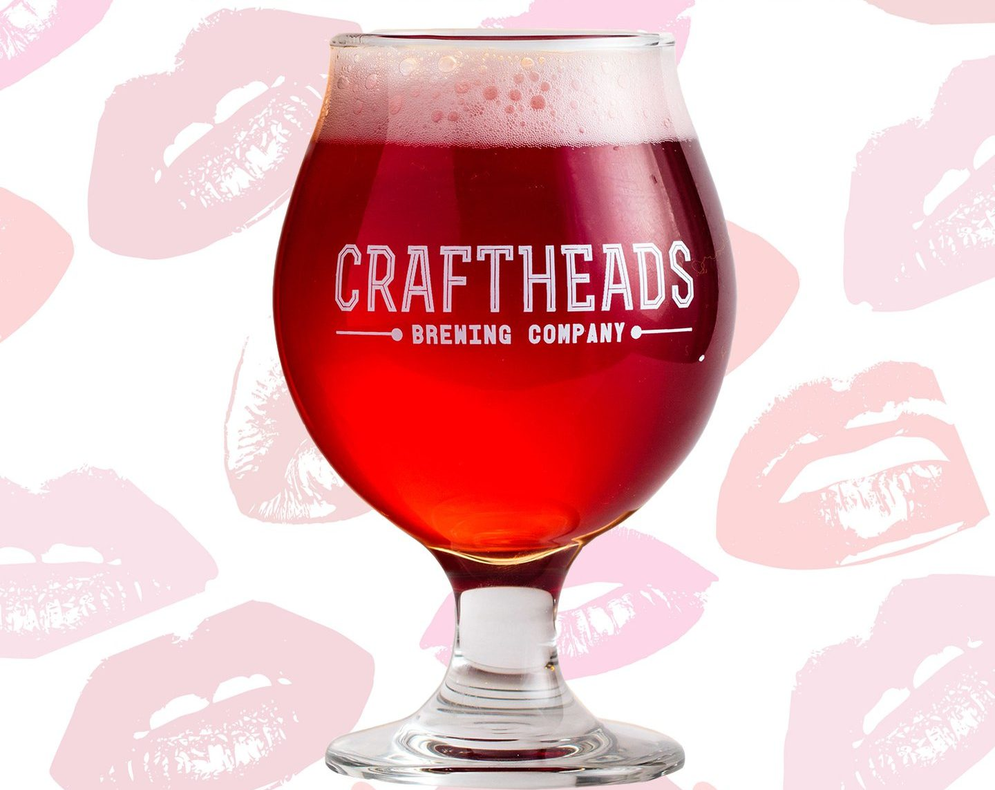 Hibisc-Kiss from Craft Heads Brewing Co. in Windsor, Ontario. It's a Gose brewed with hibiscus petals and sea salt.
