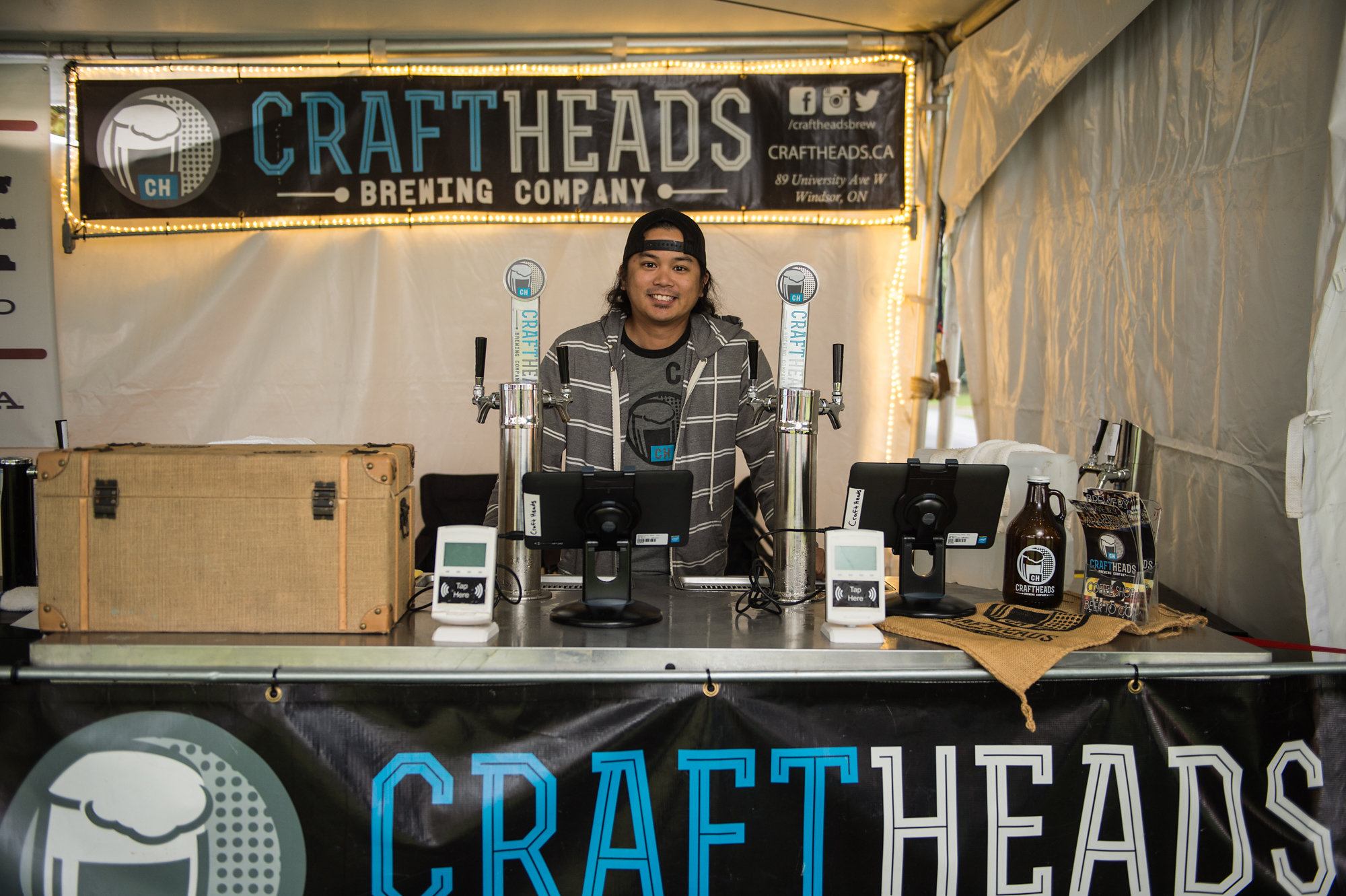 Bryan Datoc of Craft Heads Brewing Co. at the 2017 Windsor Craft Beer Festival.