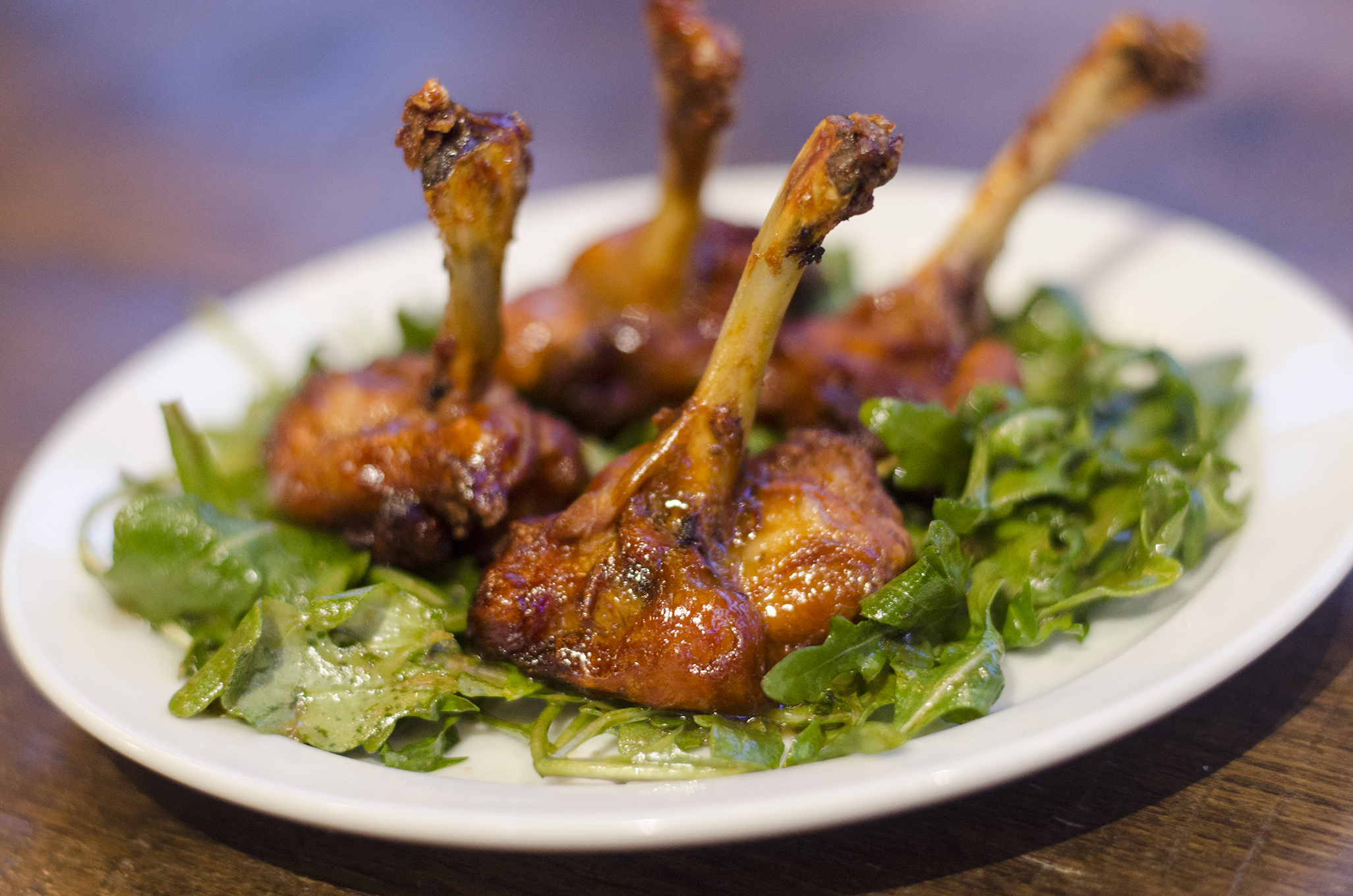 Chicken Lollipops from The Grove Brew House in Kingsville, Ontario.