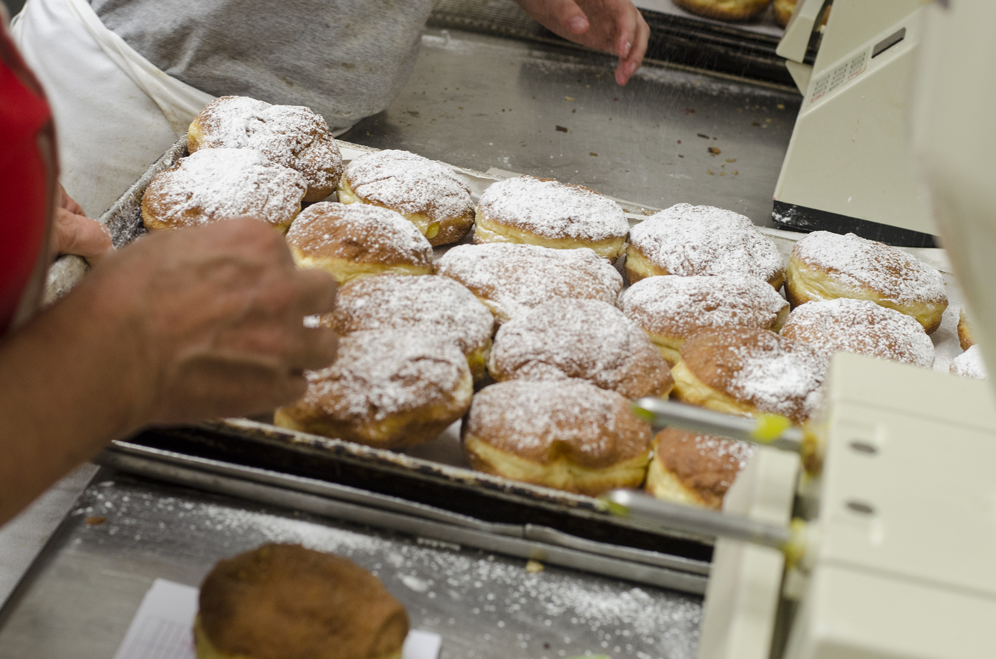 Filling up some paczki at Blak's Bakery in Windsor, Ontario.