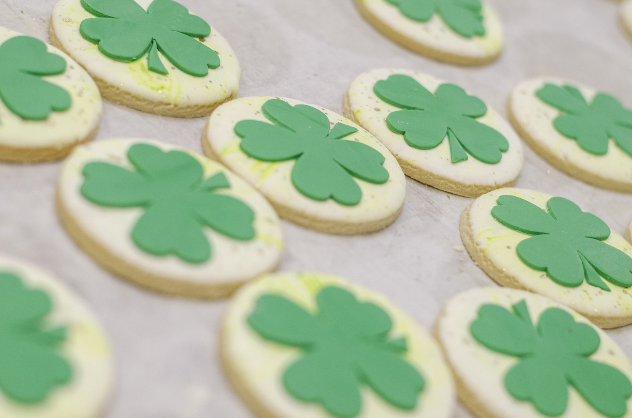 St. Patrick's Day themed sugar cookies from Sweet Revenge Bake Shop in Windsor, Ontario.