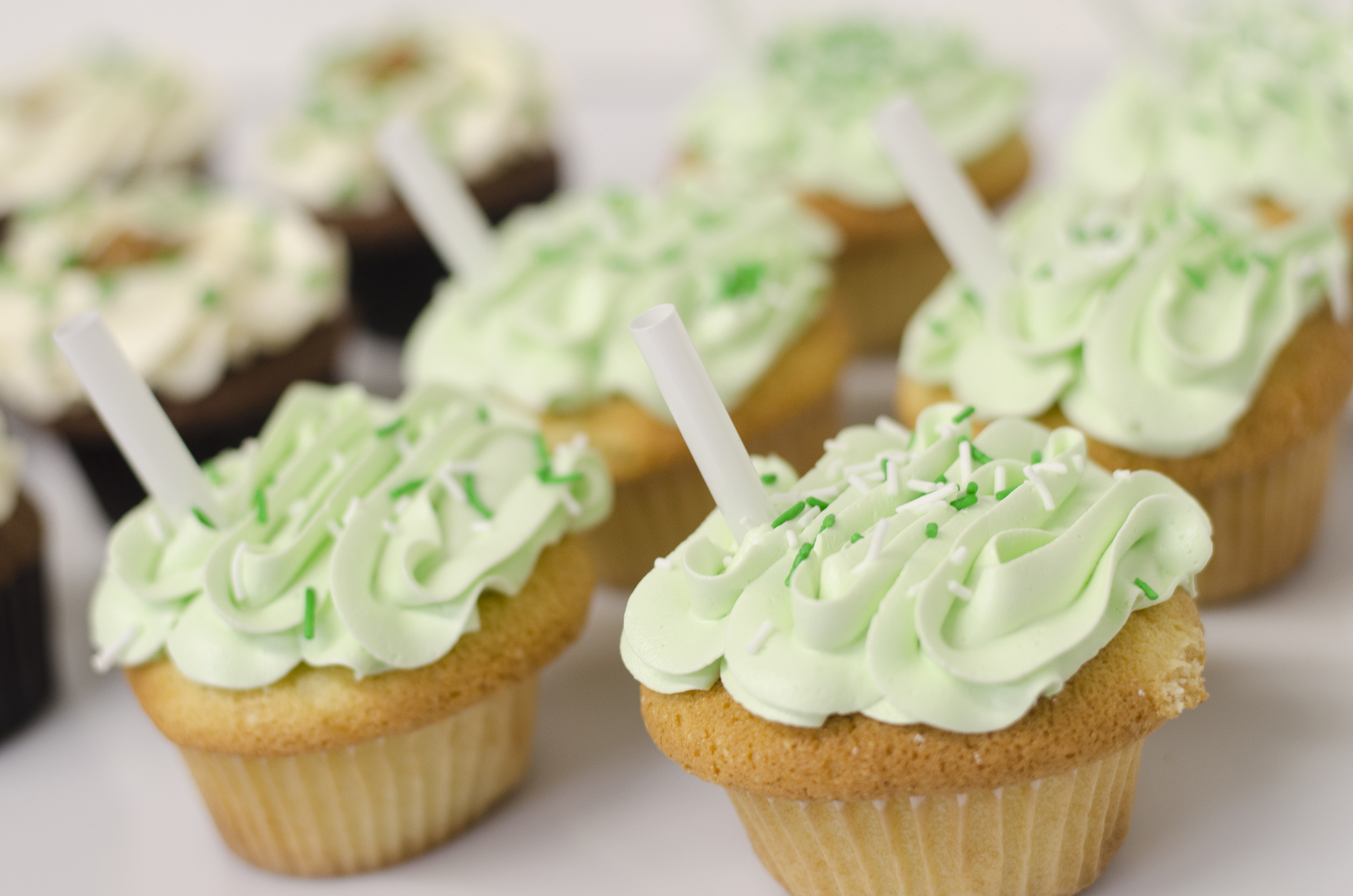 Shamrock Shake cupcakes at Sweet Revenge Bake Shop in Windsor, Ontario.