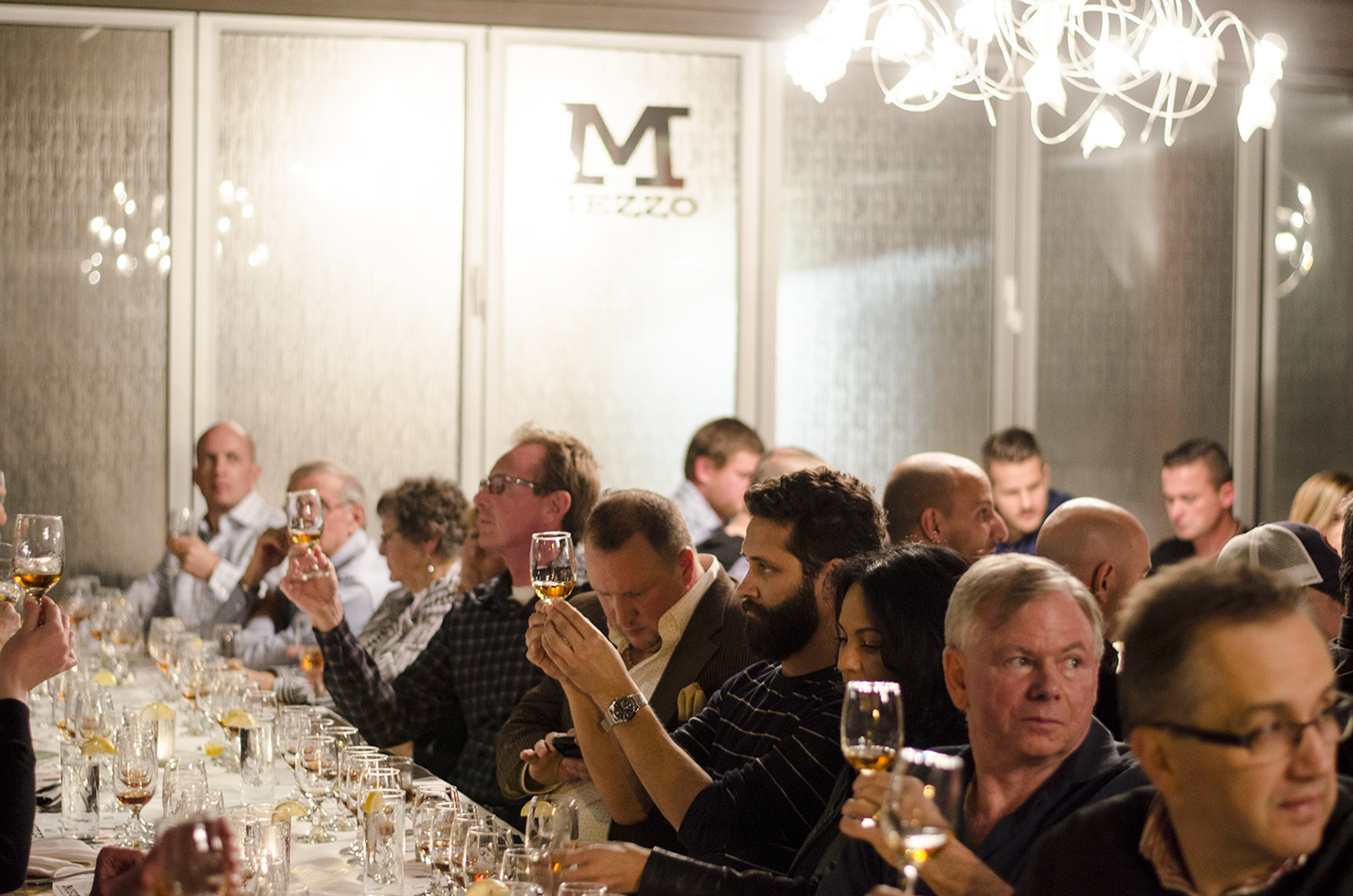 Mezzo Restaurant hosts whisky dinners, celebrating being located within Whiskytown, Canada.