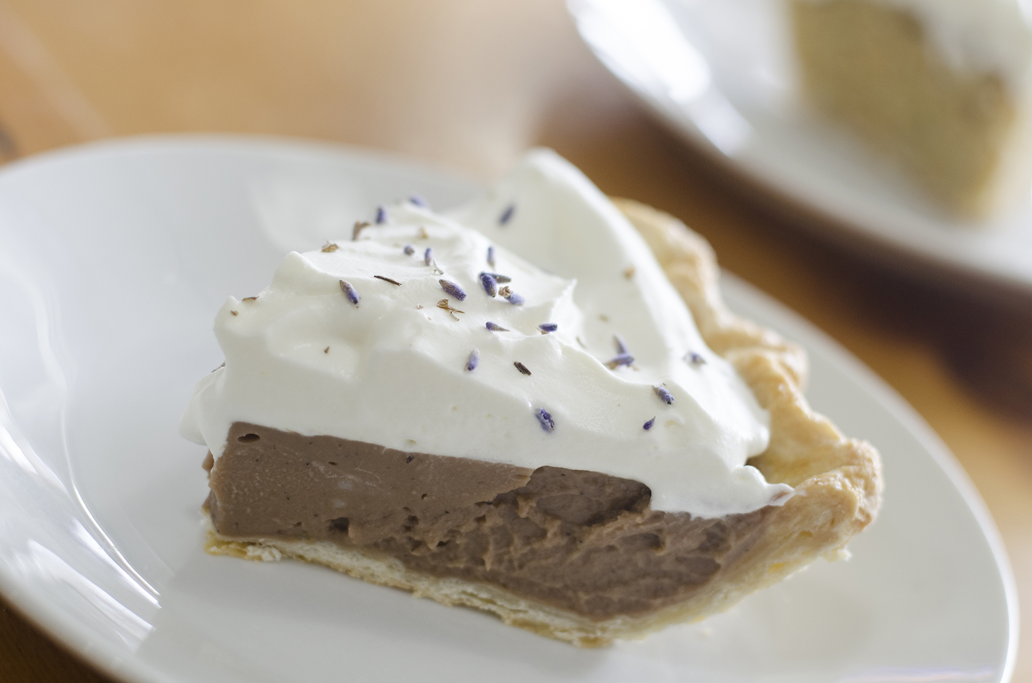 Earl Grey Chocolate Cream pie from Riverside Pie Cafe in Windsor, Ontario.