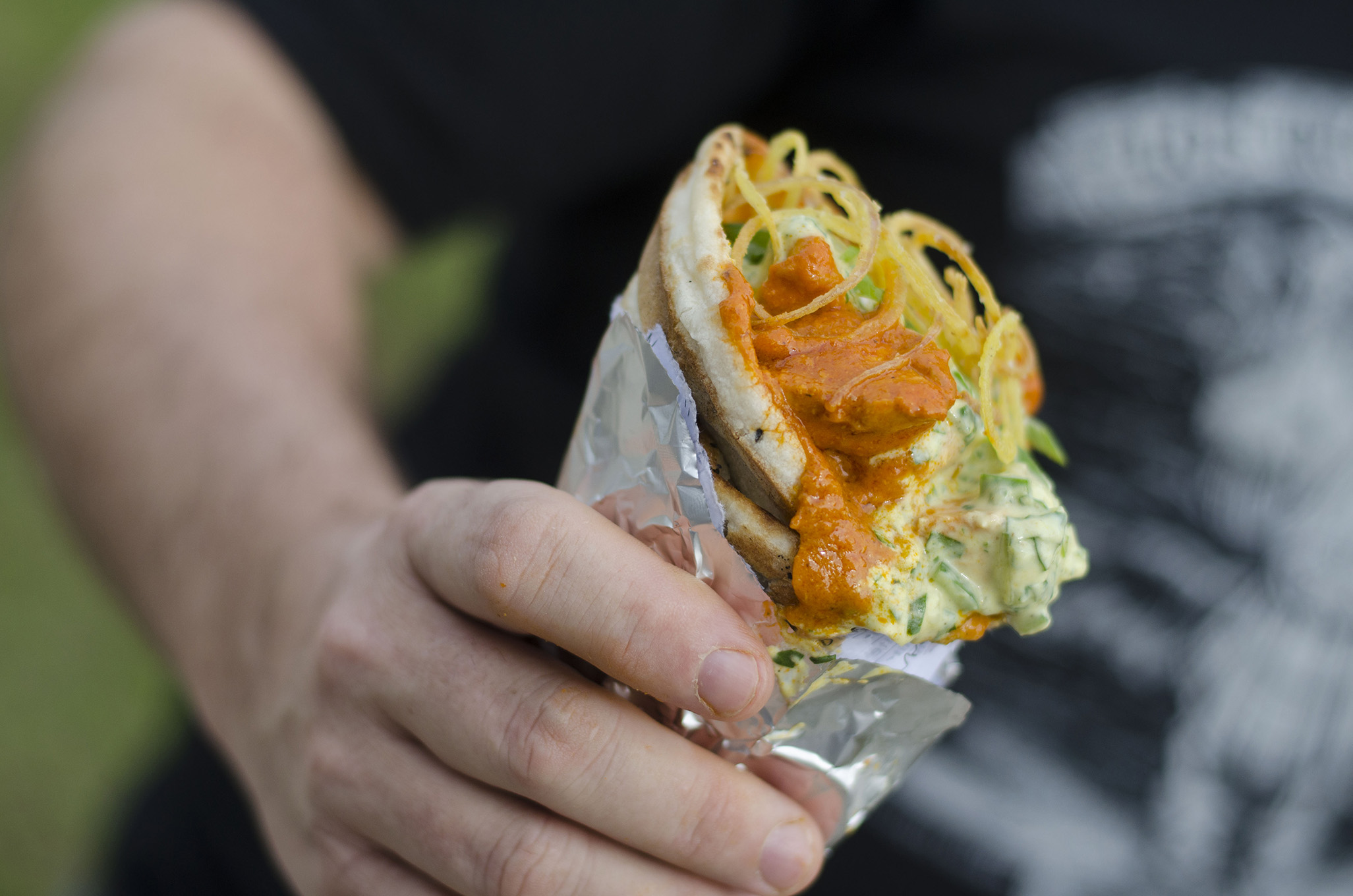 Butter Chicken Cone from WindsorEats at the Street Food Fare in Windsor, Ontario.