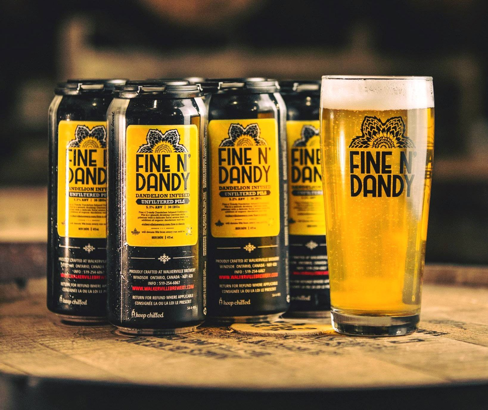 Fine N Dandy was a collaboration between Walkerville Brewery and Craft Heads Brewing Company.