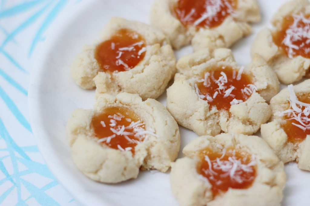 Coconut Apricot Blossom Cookies