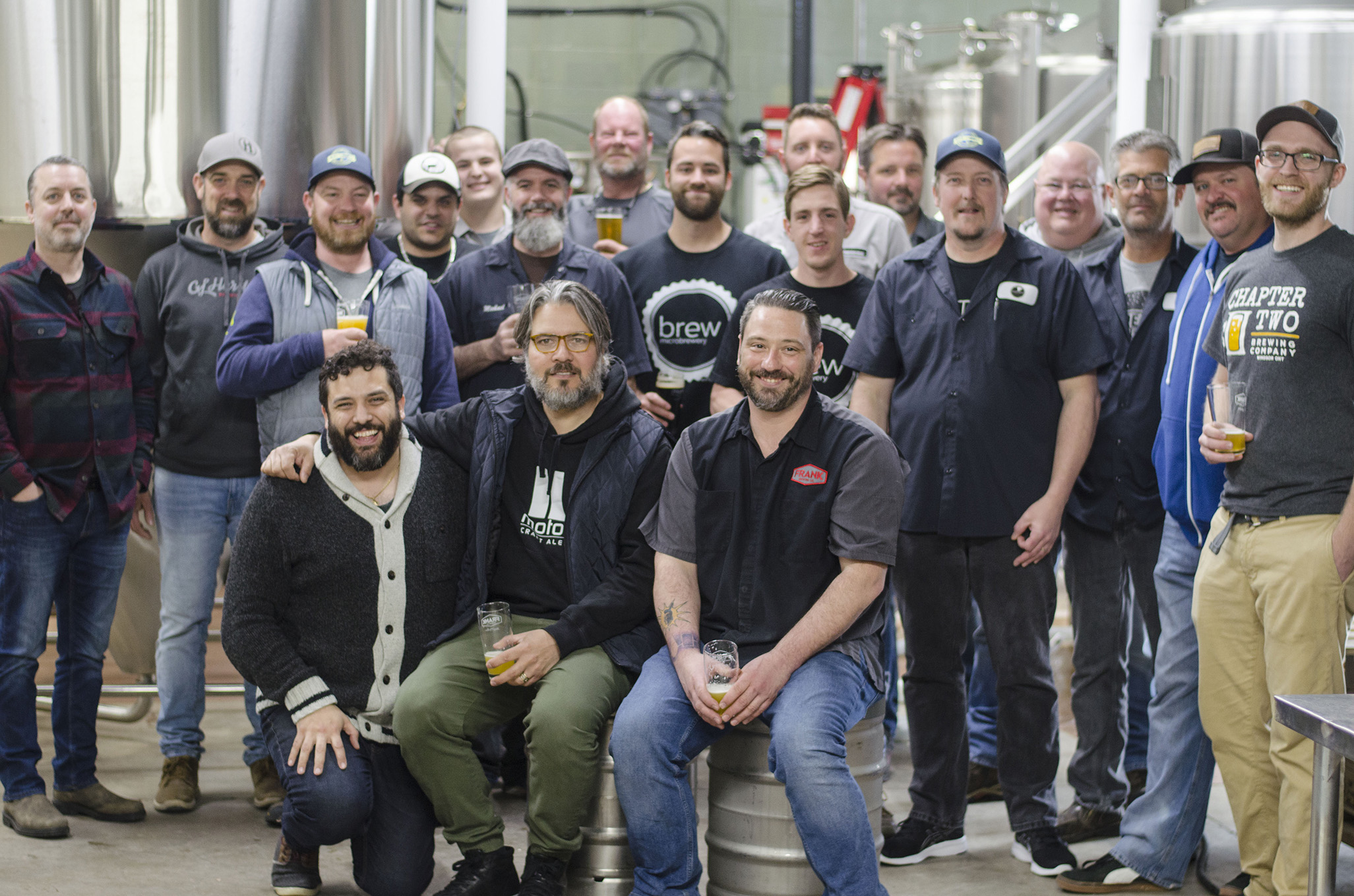 Brewers from 10 of Windsor-Essex's craft breweries.