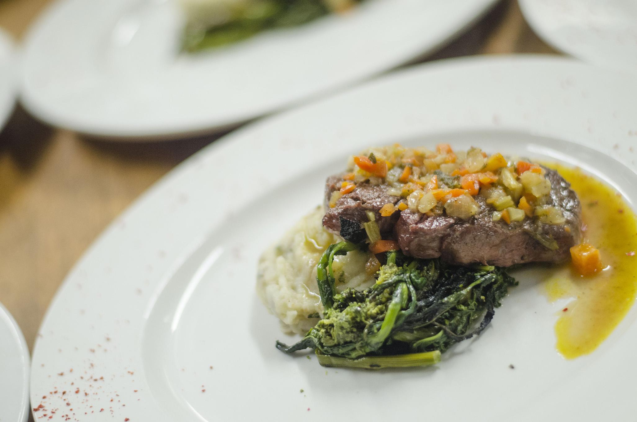 Beef tenderloin soffritto from David Rocco's cookbook, Dolce Famiglia.