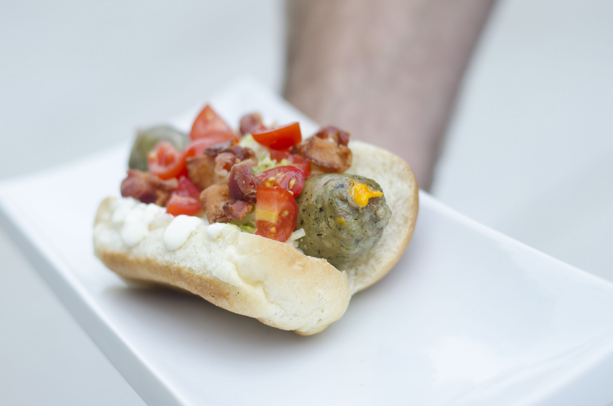 The JBStrong's No Big Dill sausage from Robbie's Gourmet Sausage Co. in Windsor, Ontario.
