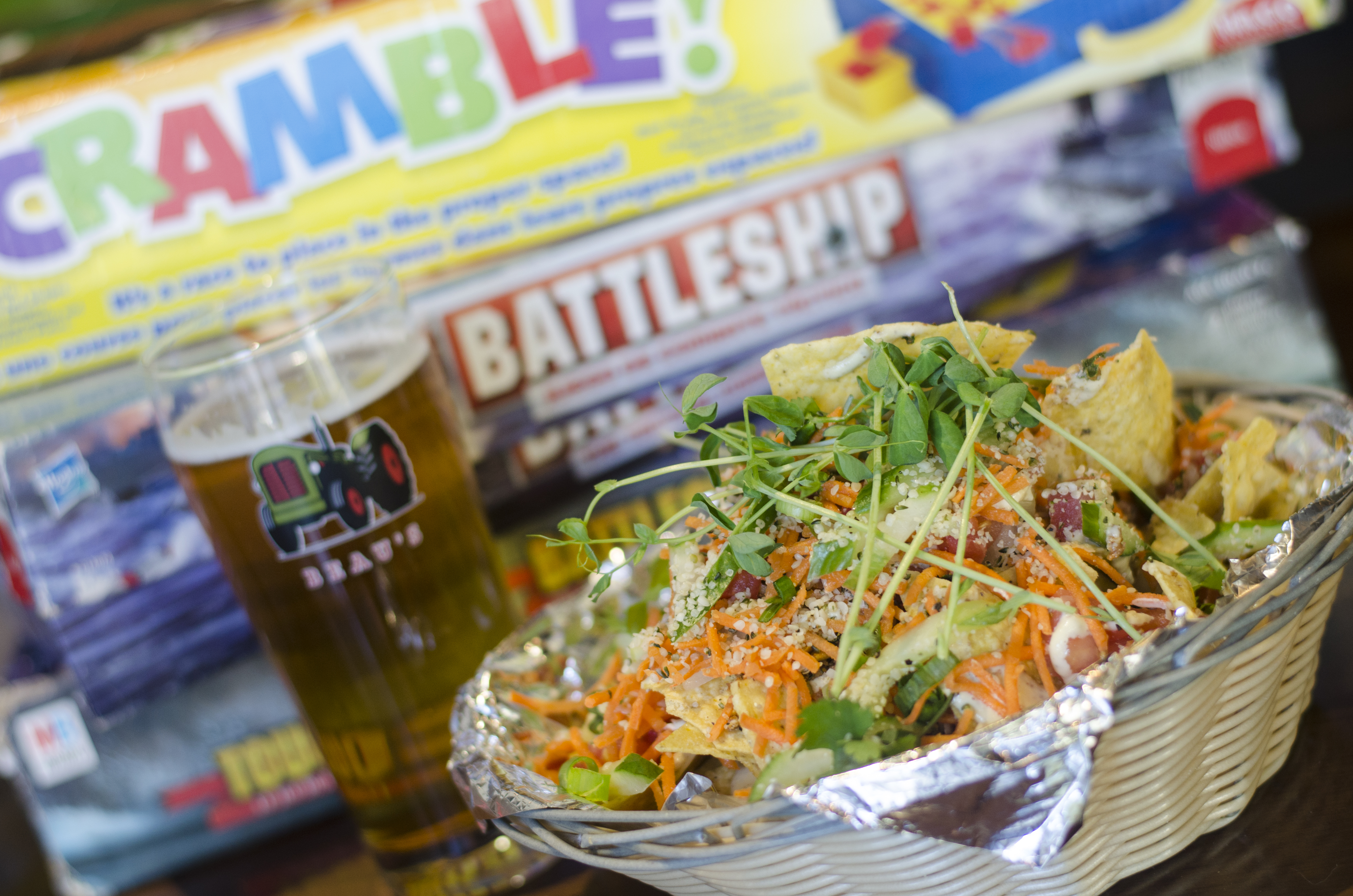 Nachos, beer and board games are the way to go at Carrots 'N Dates in Windsor, Ontario.