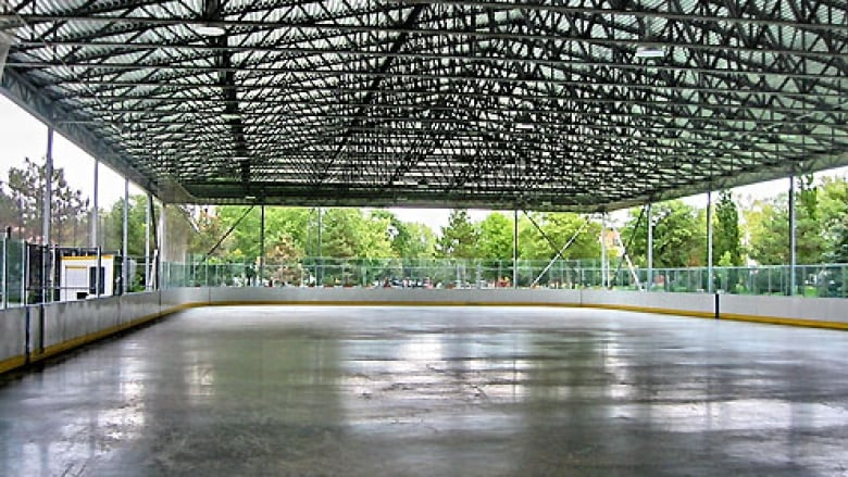 The outdoor rink at Lanspeary Park in Windsor, Ontario.
