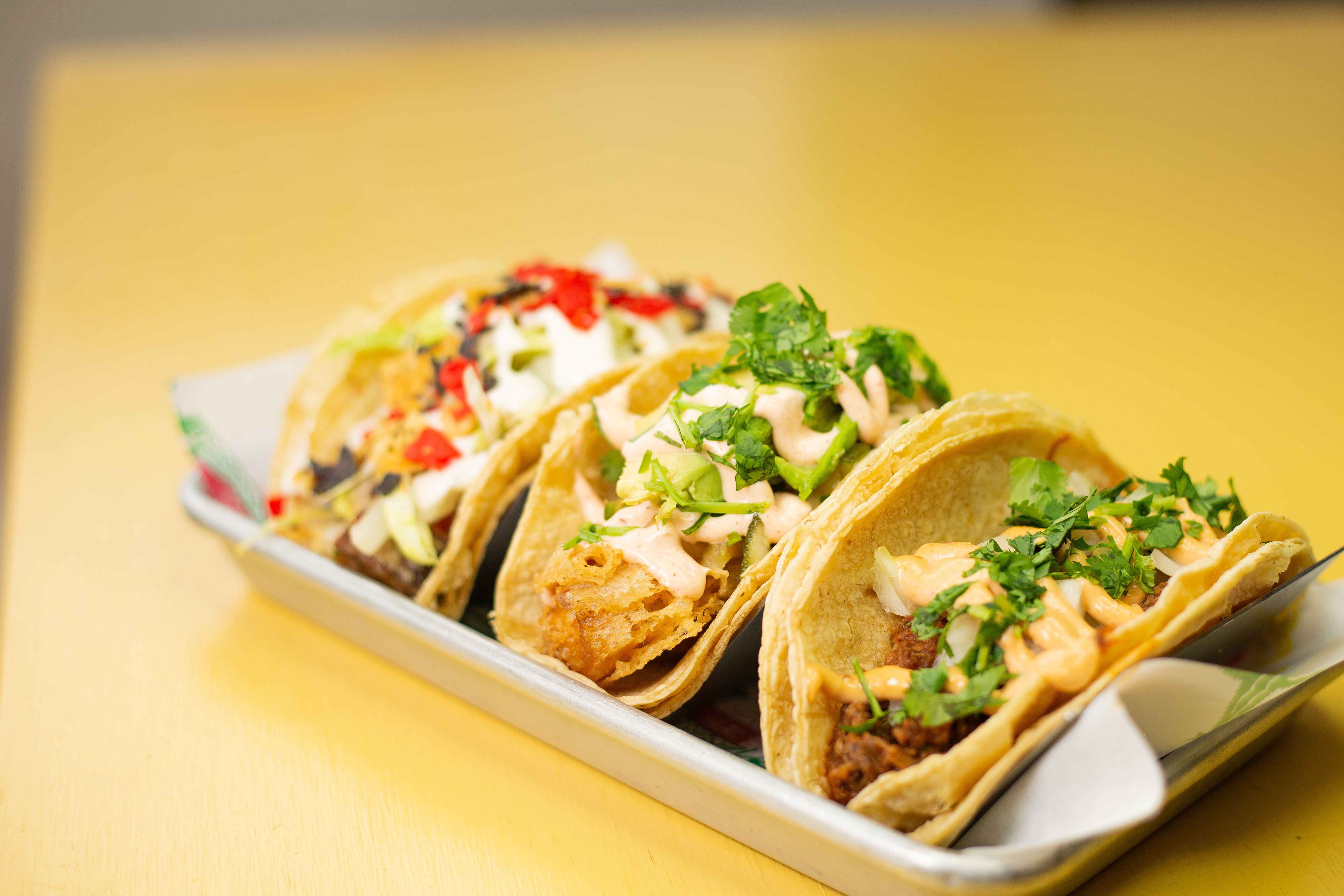 Tacos from The Grand Cantina in Windsor, Ontario.