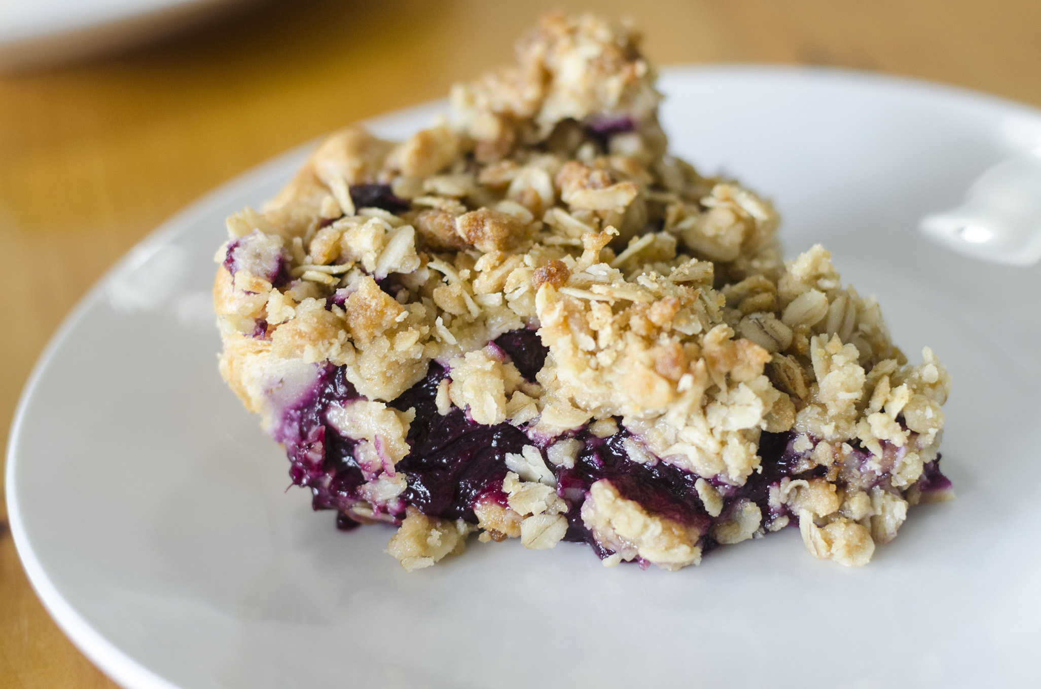 Blueberry Rhubarb Crumble Pie from Riverside Pie Cafe in Windsor, Ontario.