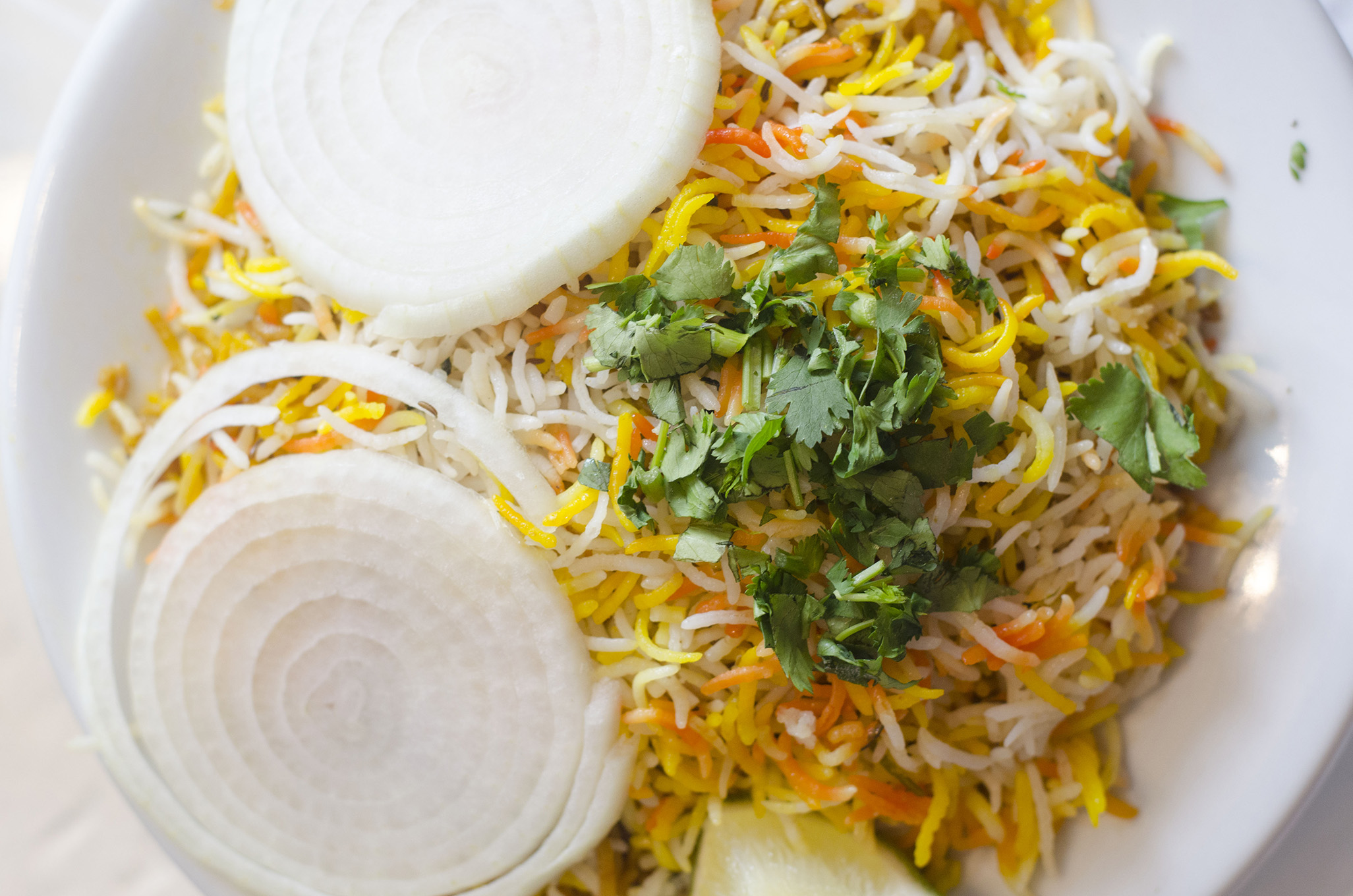 A biryani from India Paradise in Windsor, Ontario.
