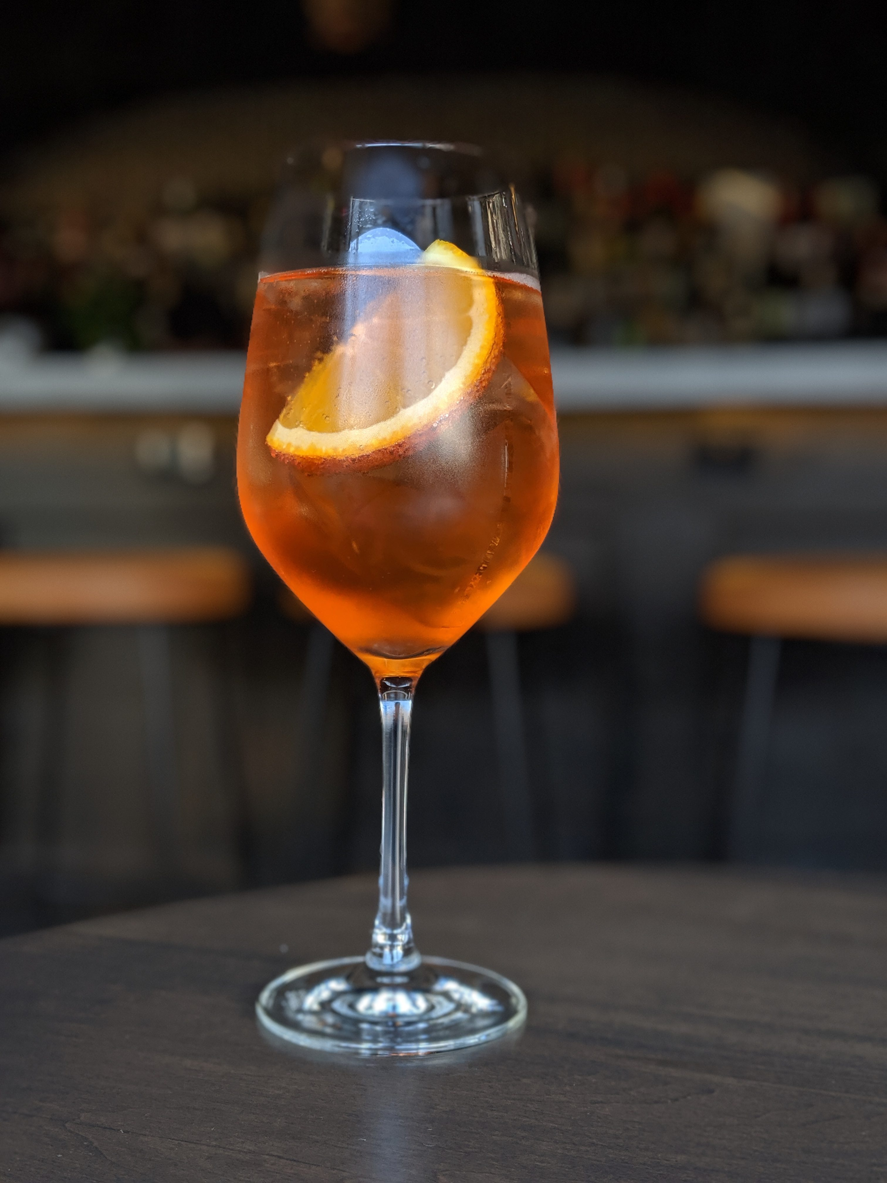 The Southern Spritz cocktail by Maiden Lane Wine Spirits in Windsor, Ontario.