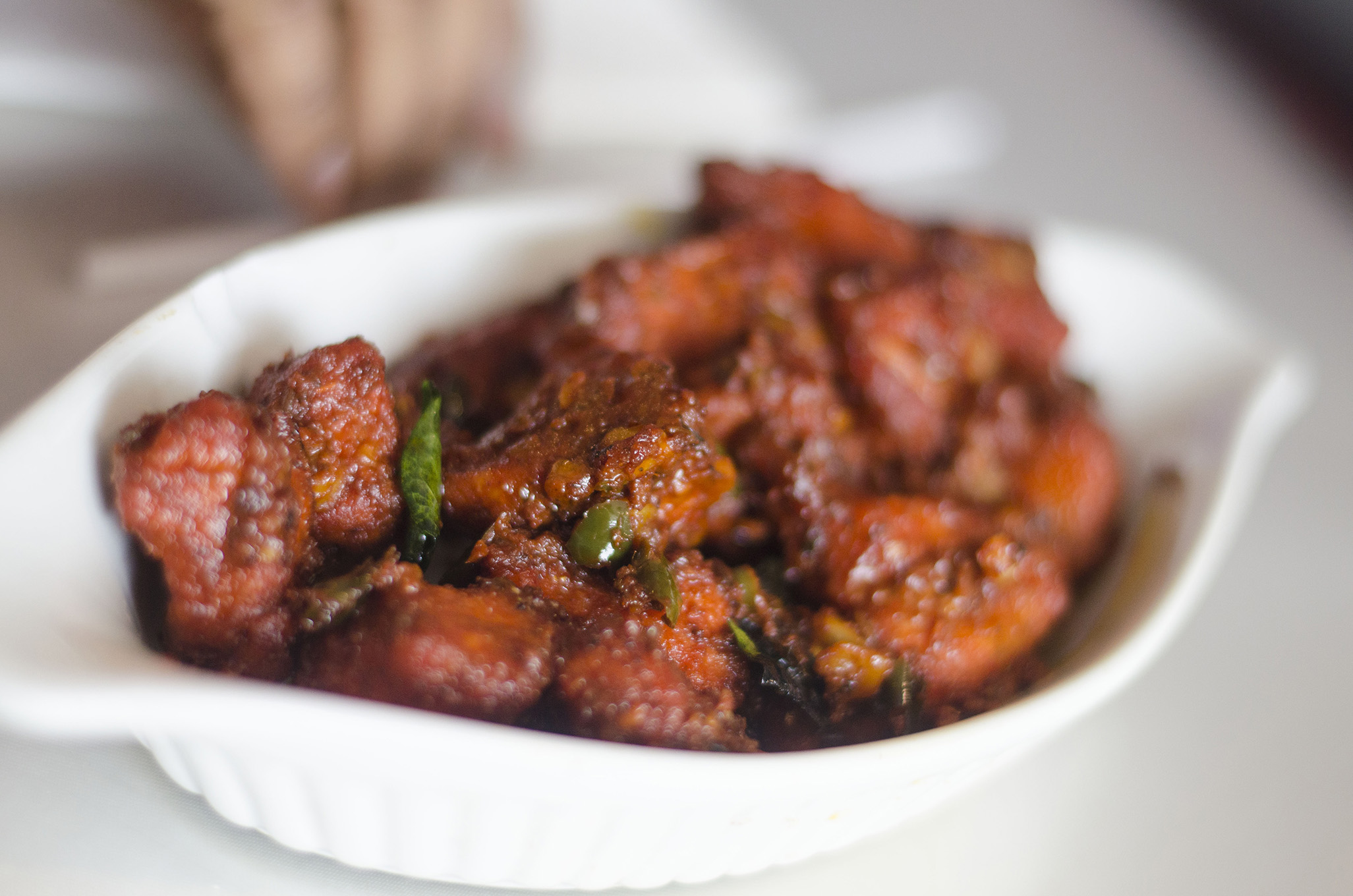 Chicken 65 from India Paradise in Windsor, Ontario.