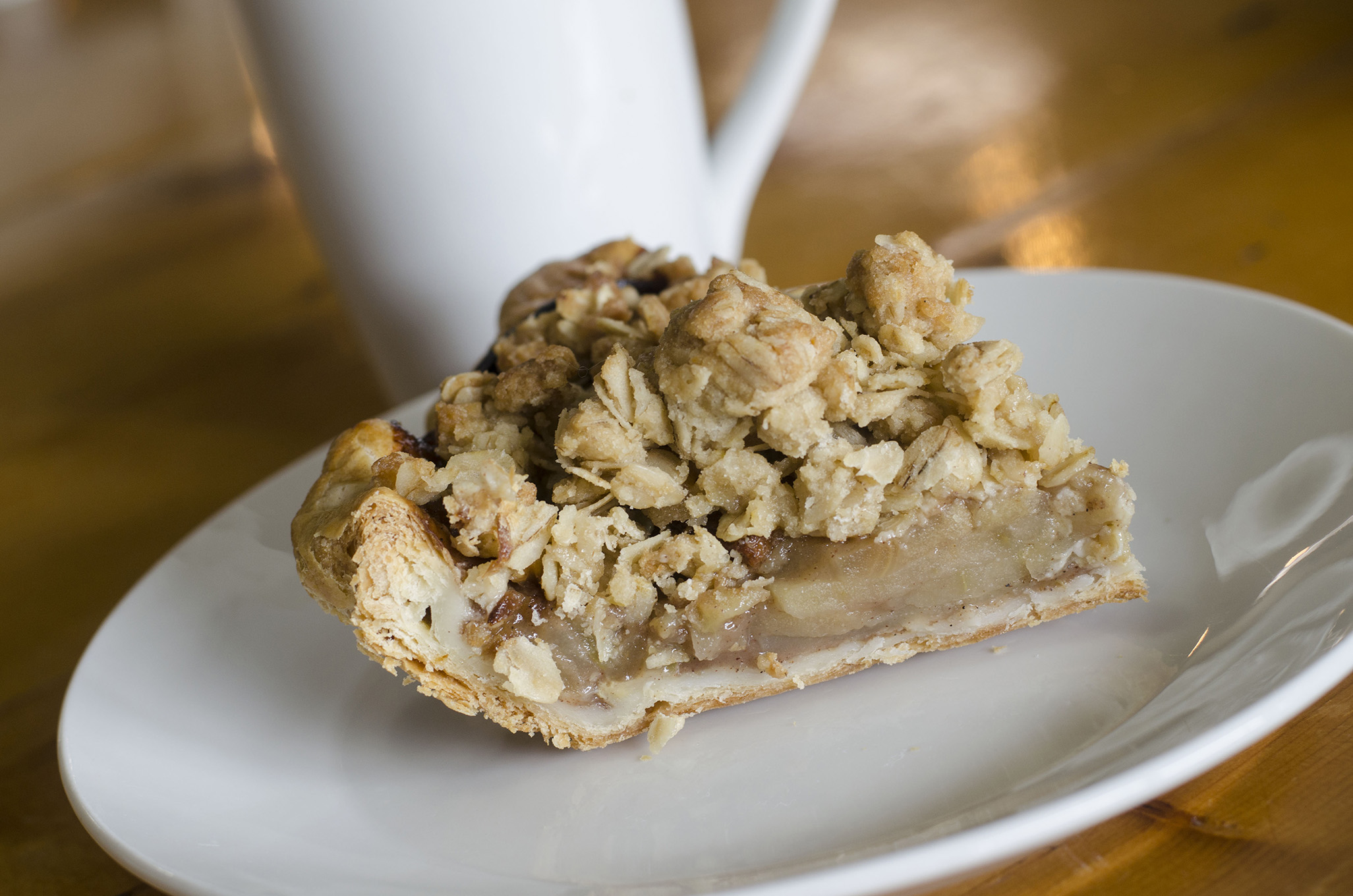 The Apple Crumble pie from Riverside Pie Cafe in Windsor, Ontario.
