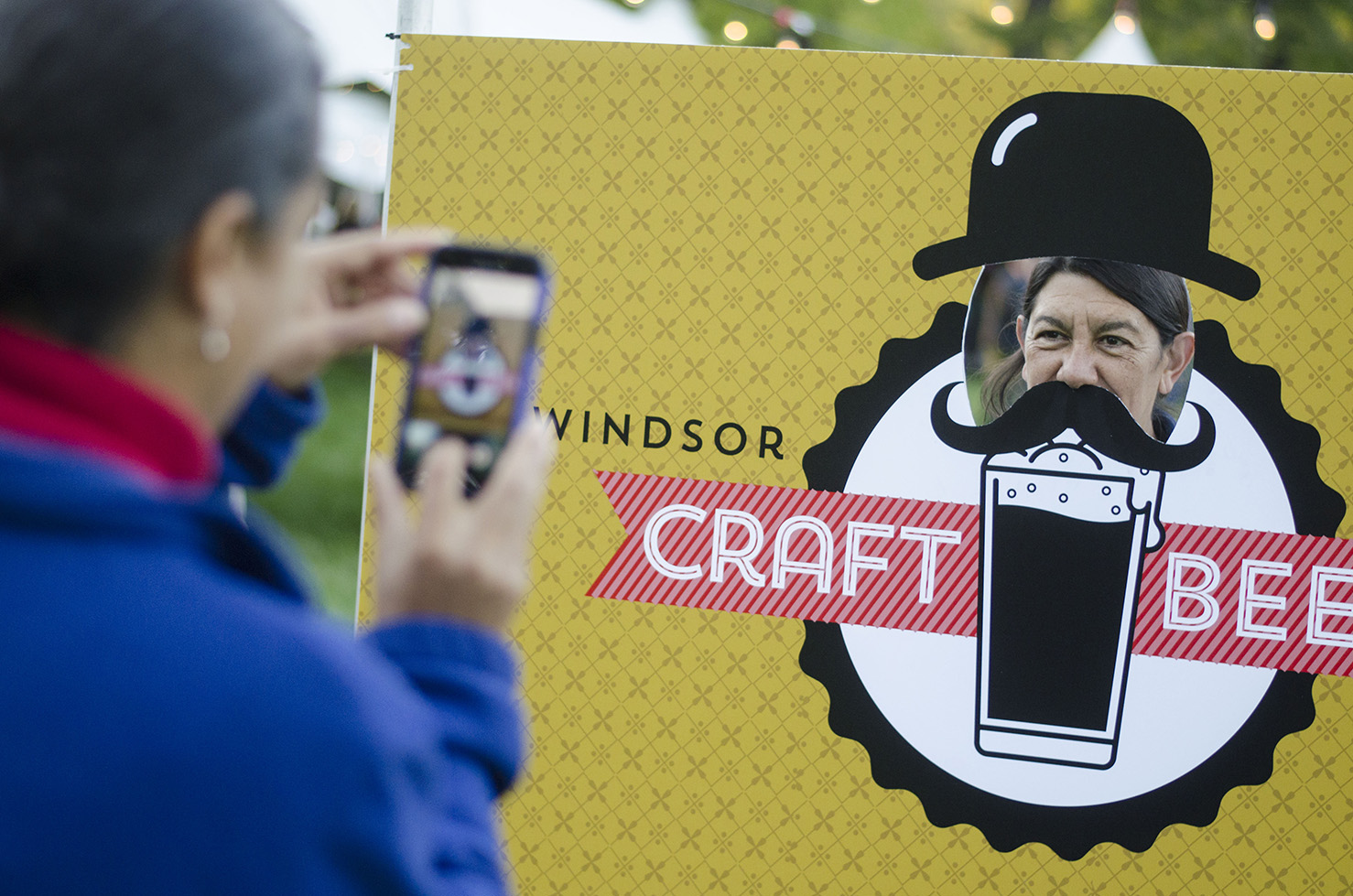 Having some fun at the Windsor Craft Beer Festival in Windsor, Ontario.