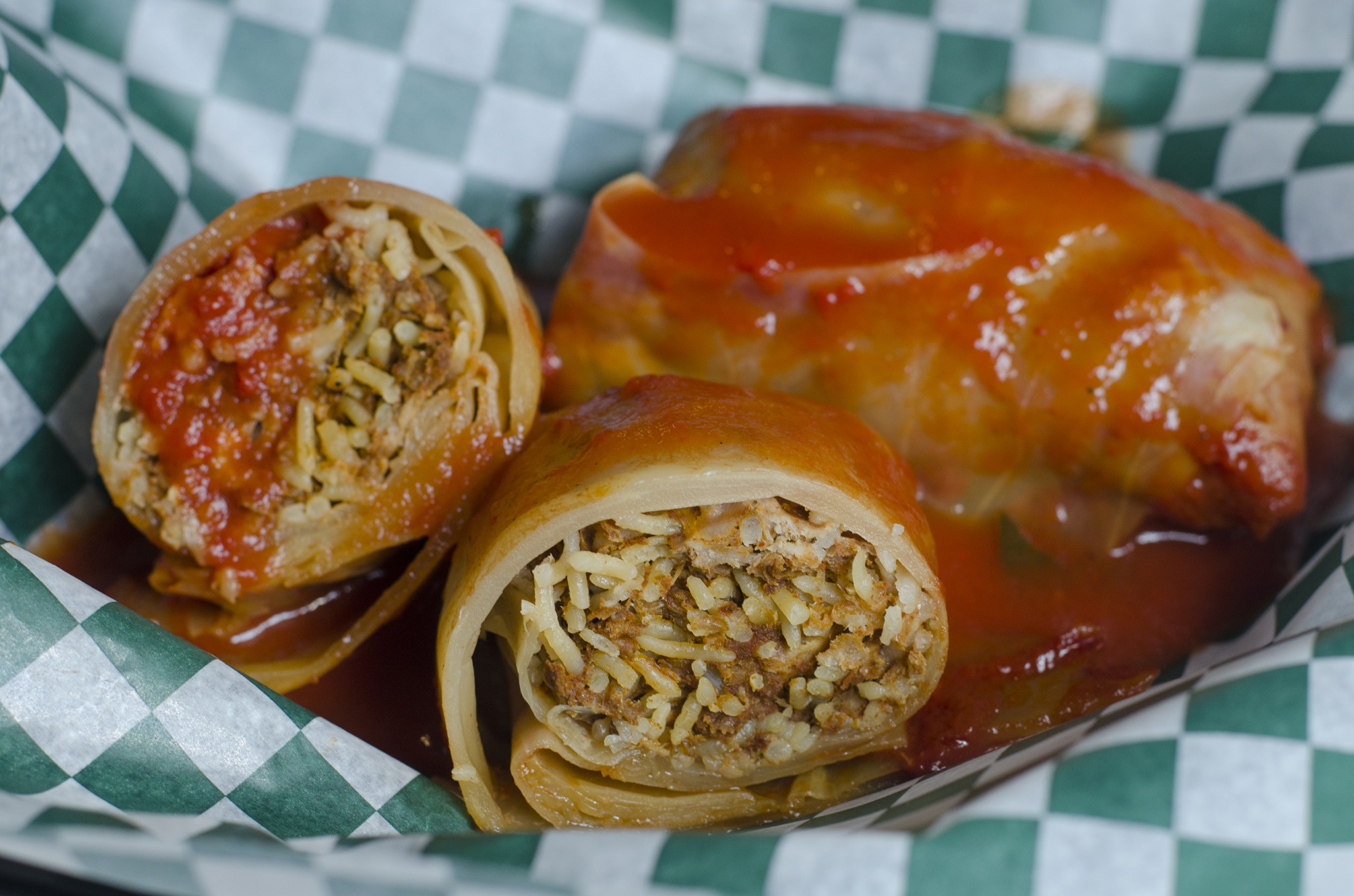 Cabbage rolls from Little Foot Foods in Windsor, Ontario.