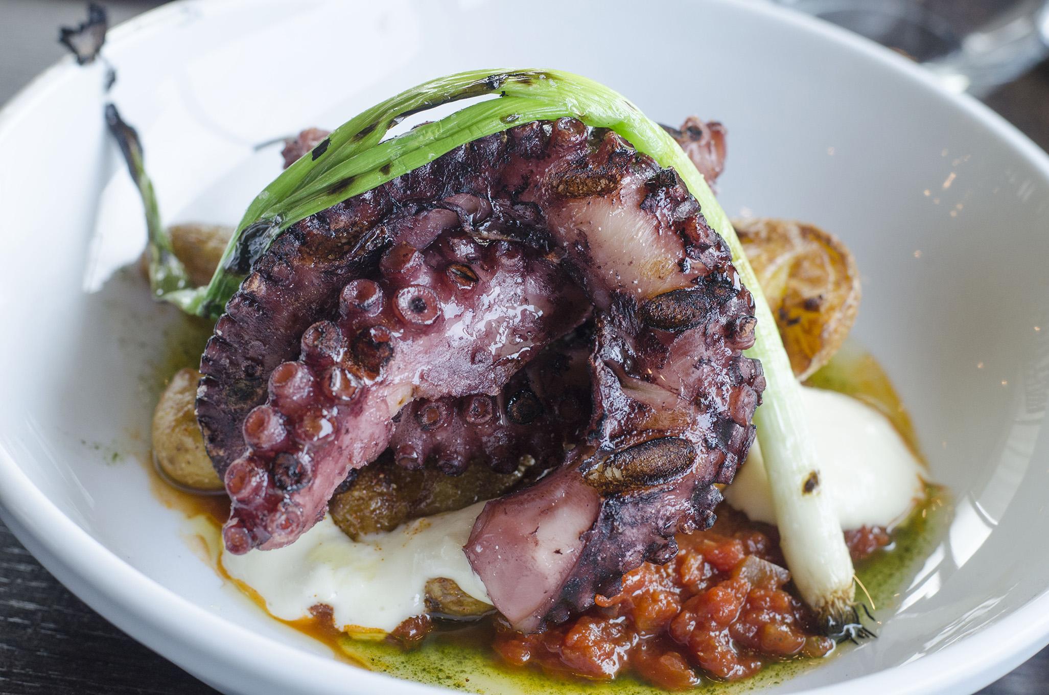 Octopus on the Vine+Ash menu in Tecumseh, Ontario.