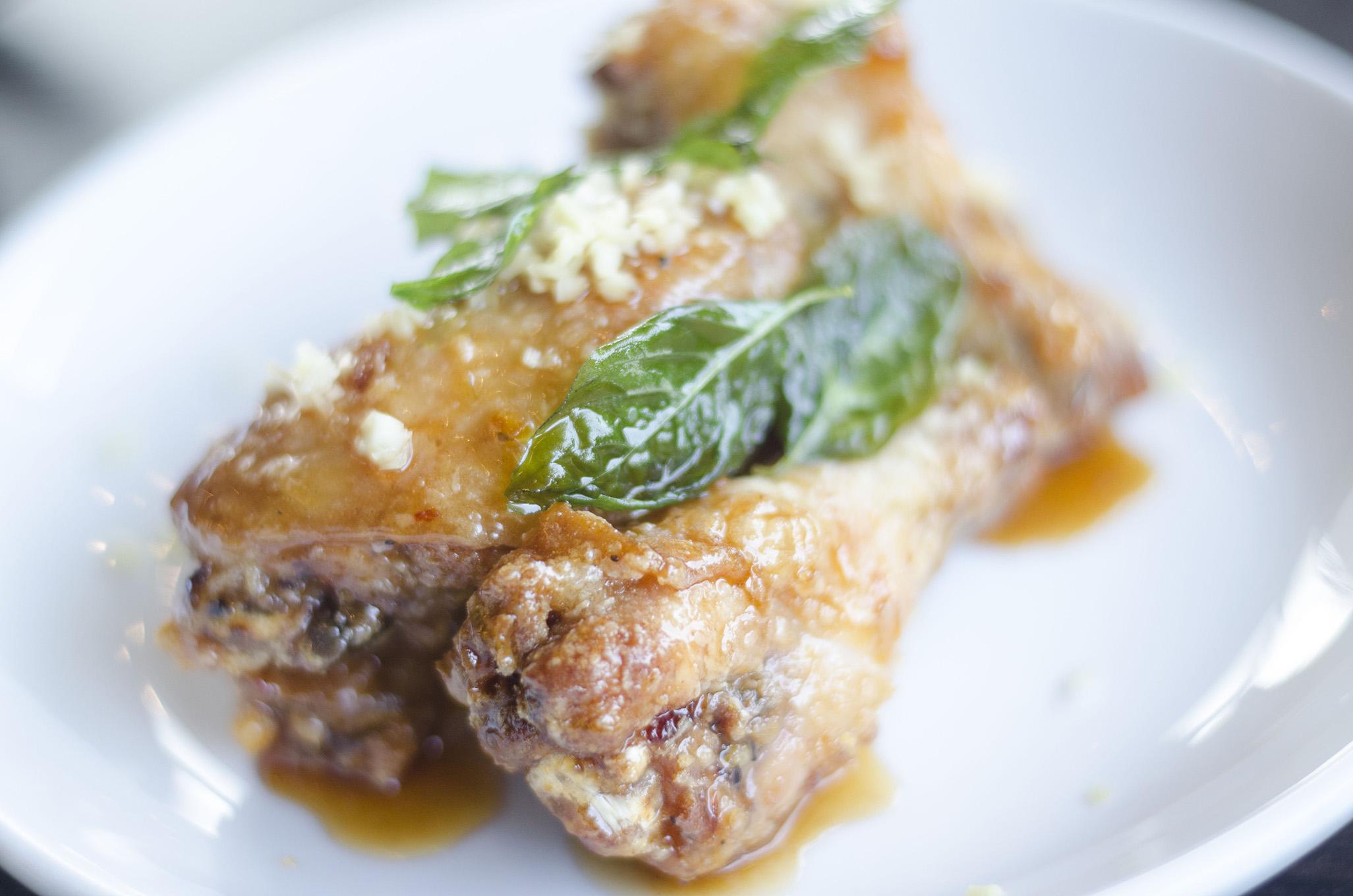 Chicken wings on the Vine+Ash menu in Tecumseh, Ontario.