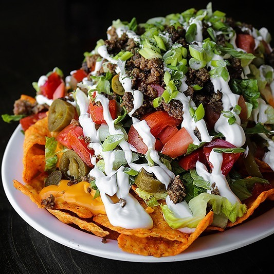 Dorito nachos from Garfield's in Colchester, Ontario. Photo take from Garfield's Facebook page.