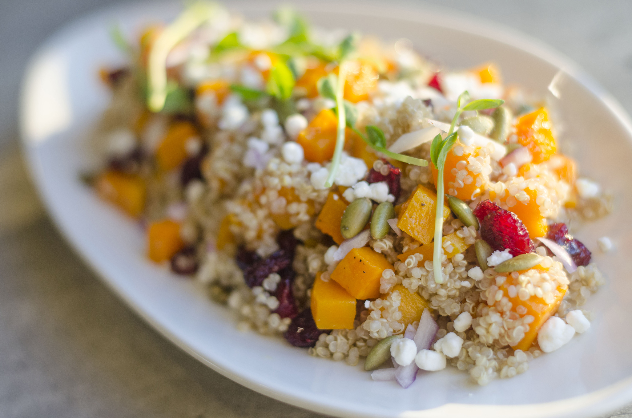 Butternut squash quinoa salad from Paglione Estate Winery in Essex, Ontario.