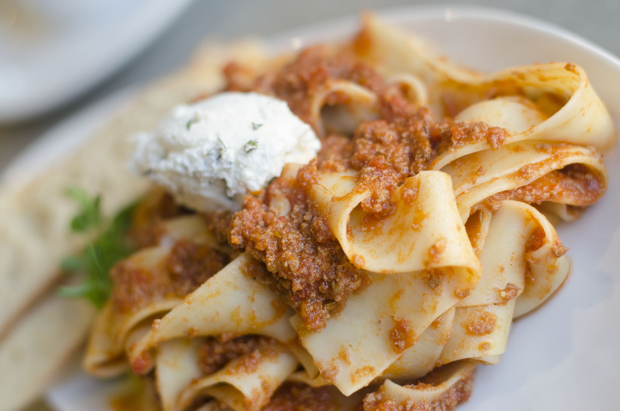 Pasta with lamb ragu from Paglione Estate Winery in Essex, Ontario.