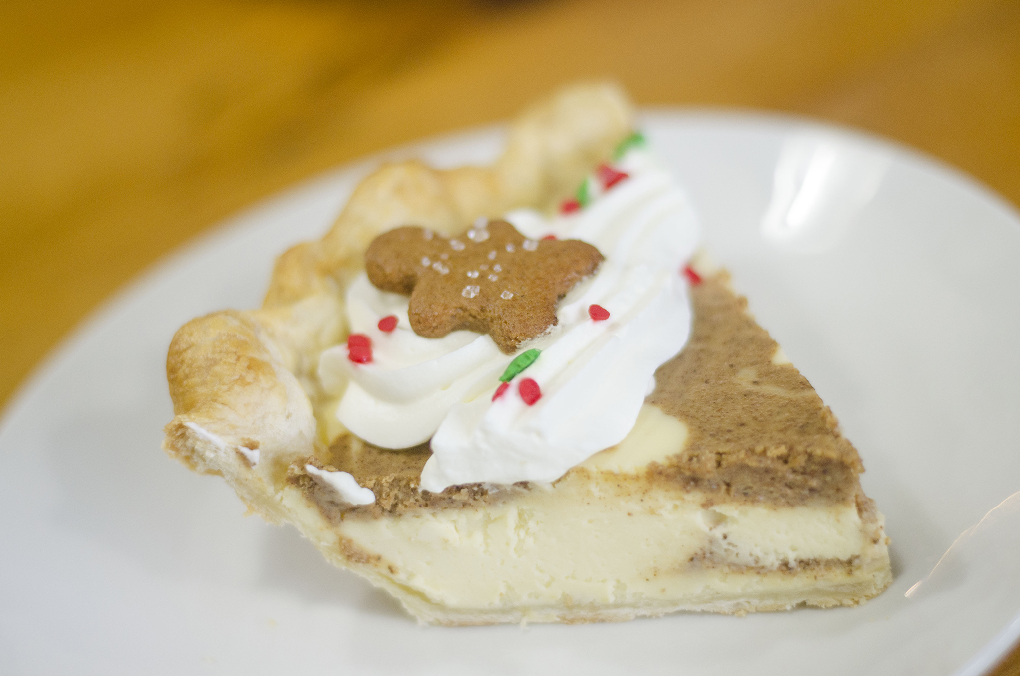 Gingerbread Cheesecake pie from Riverside Pie Cafe in Windsor, Ontario.