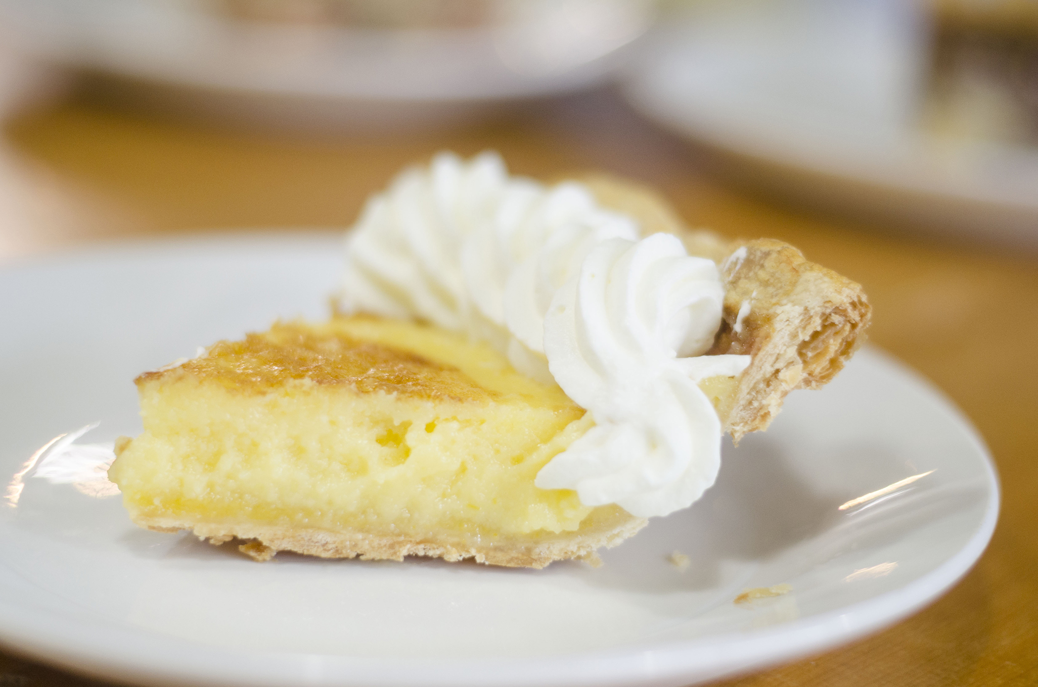 Lemon Custard pie from Riverside Pie Cafe in Windsor, Ontario.