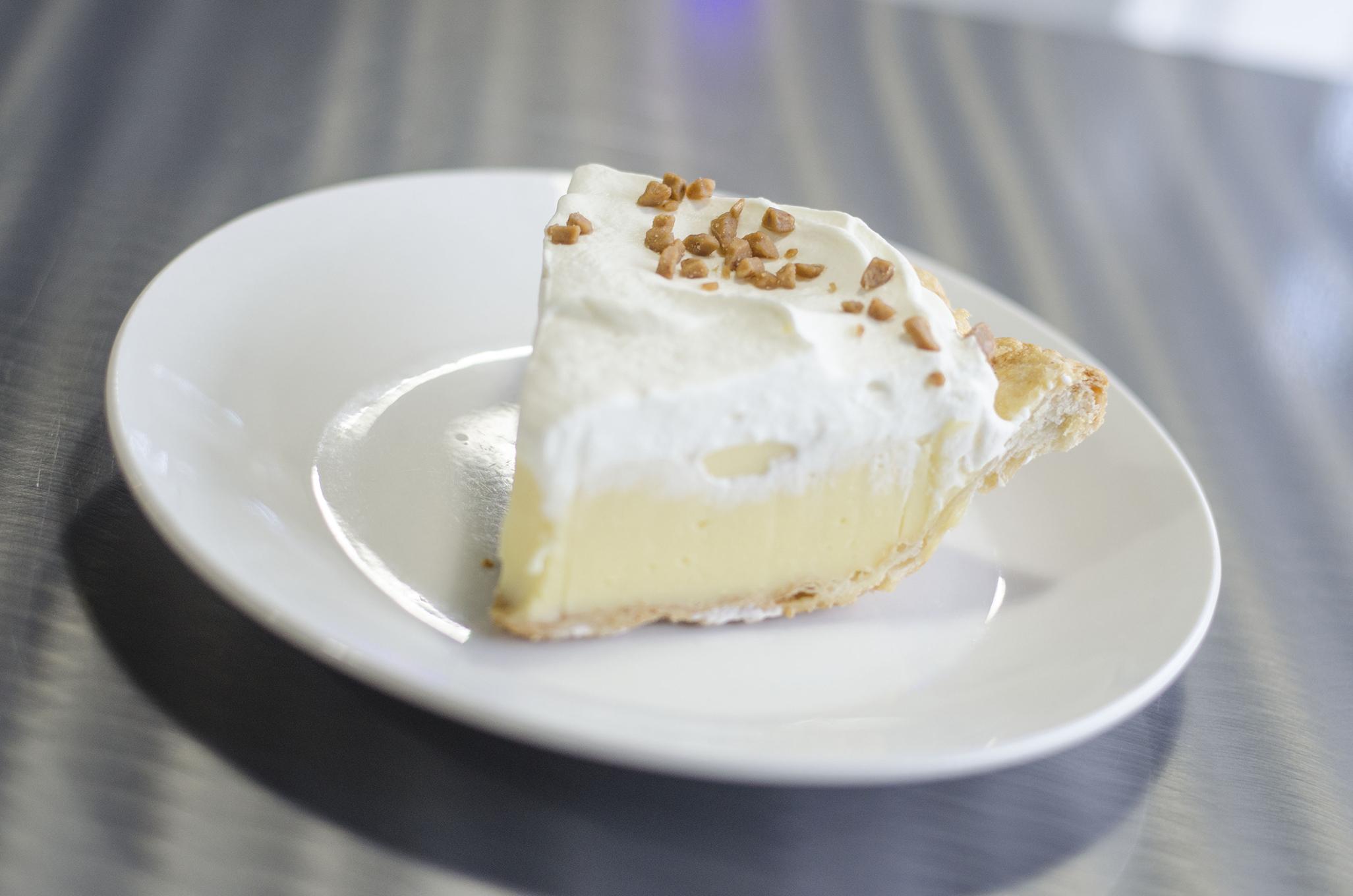 Buttered Rum Cream Pie from Riverside Pie Cafe in Windsor, Ontario.