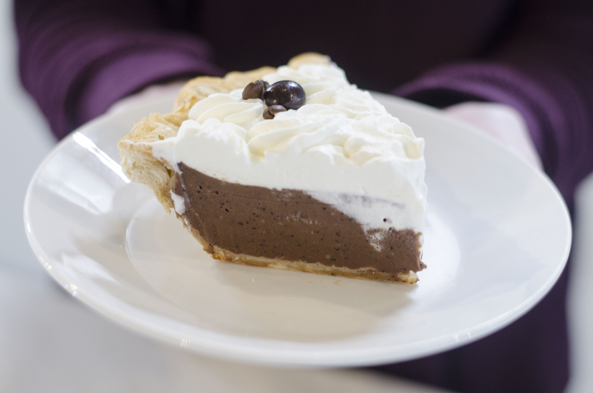 Mocha Cream Pie from Riverside Pie Cafe in Windsor, Ontario.