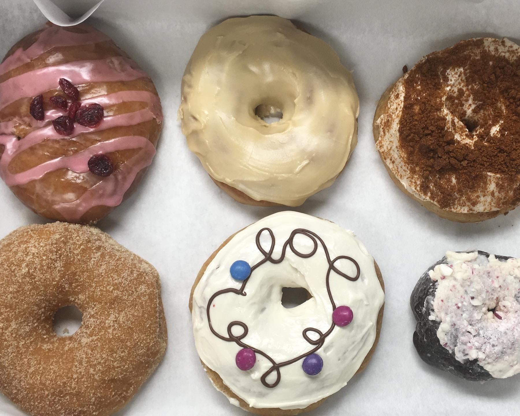A variety of vegan donuts from Plant Joy in Windsor, Ontario.