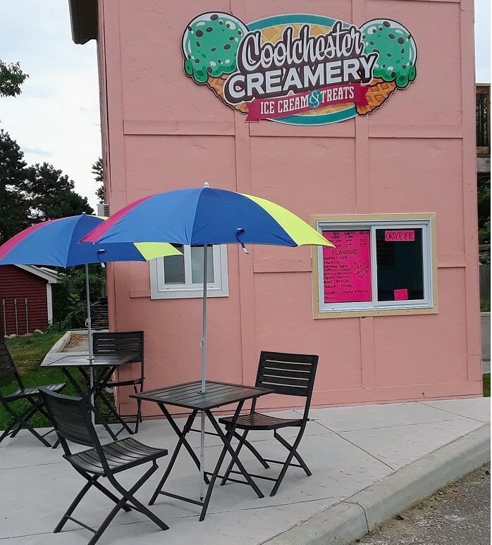 The Coolchester Creamery just steps from Colchester Beach in Colchester, Ontario.