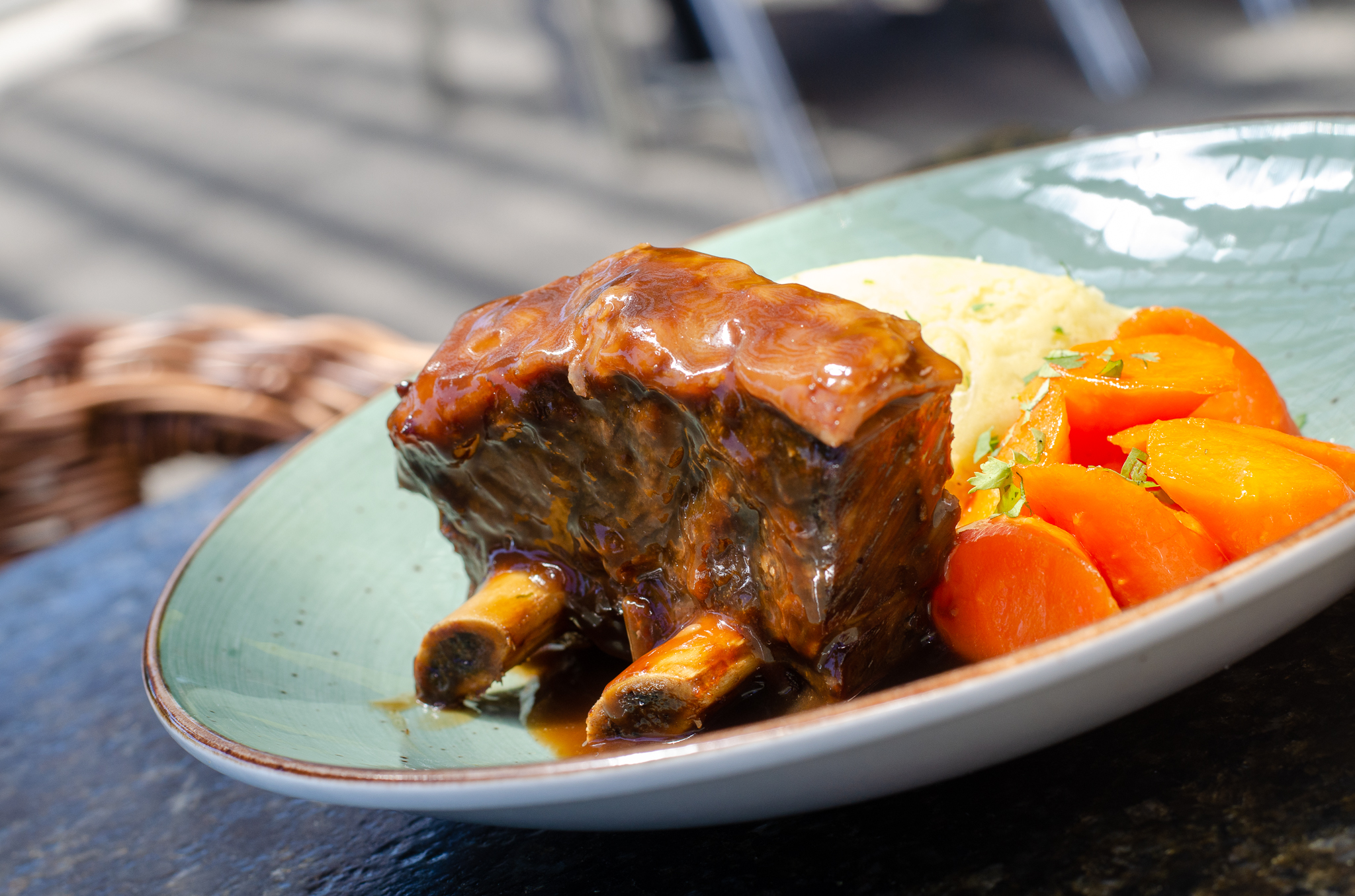 Braised Beef Short Ribs from Parks & Rec in Windsor, Ontario.