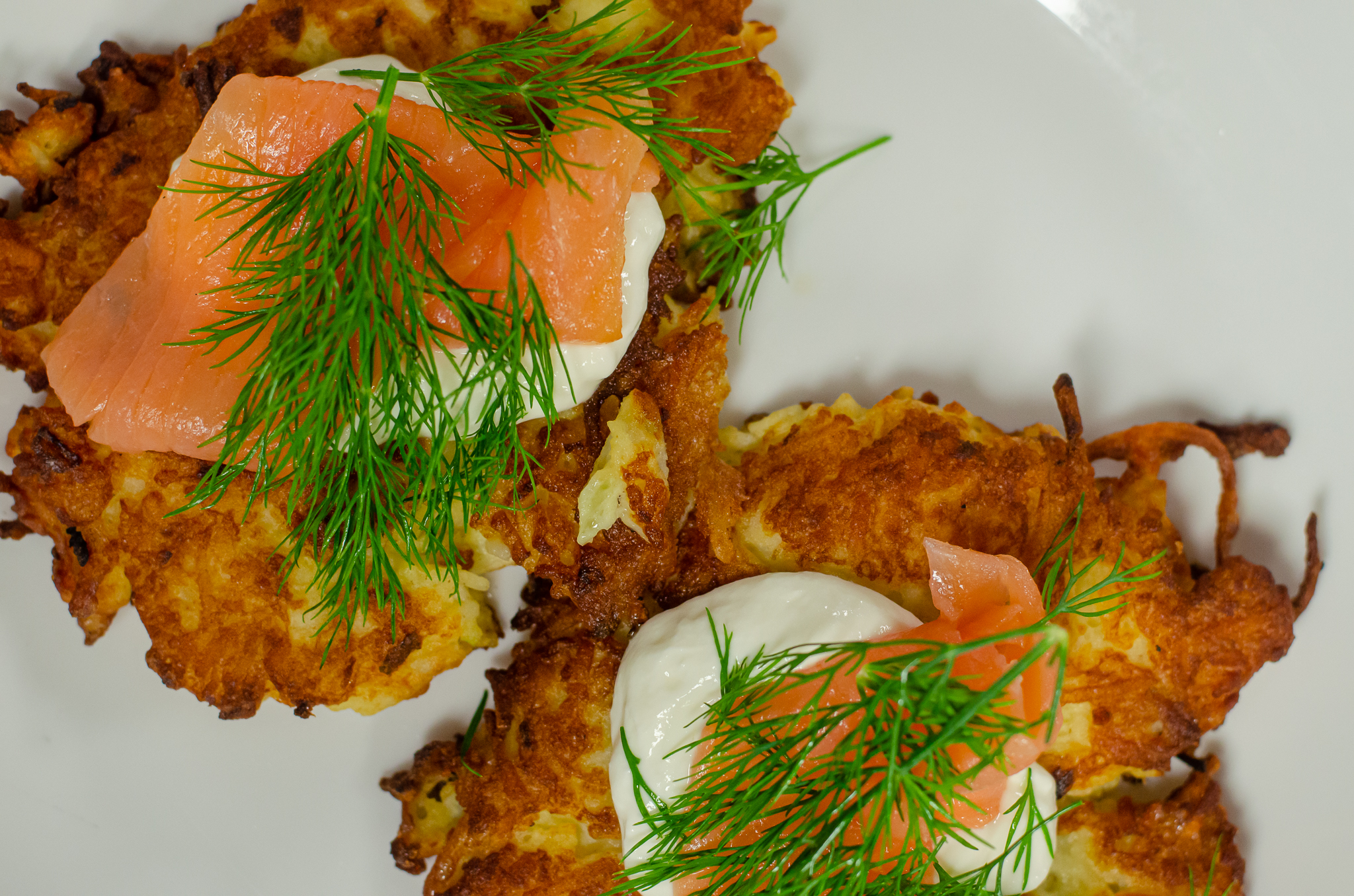 Potato Latke from Vine + Ash in Tecumseh, Ontario.