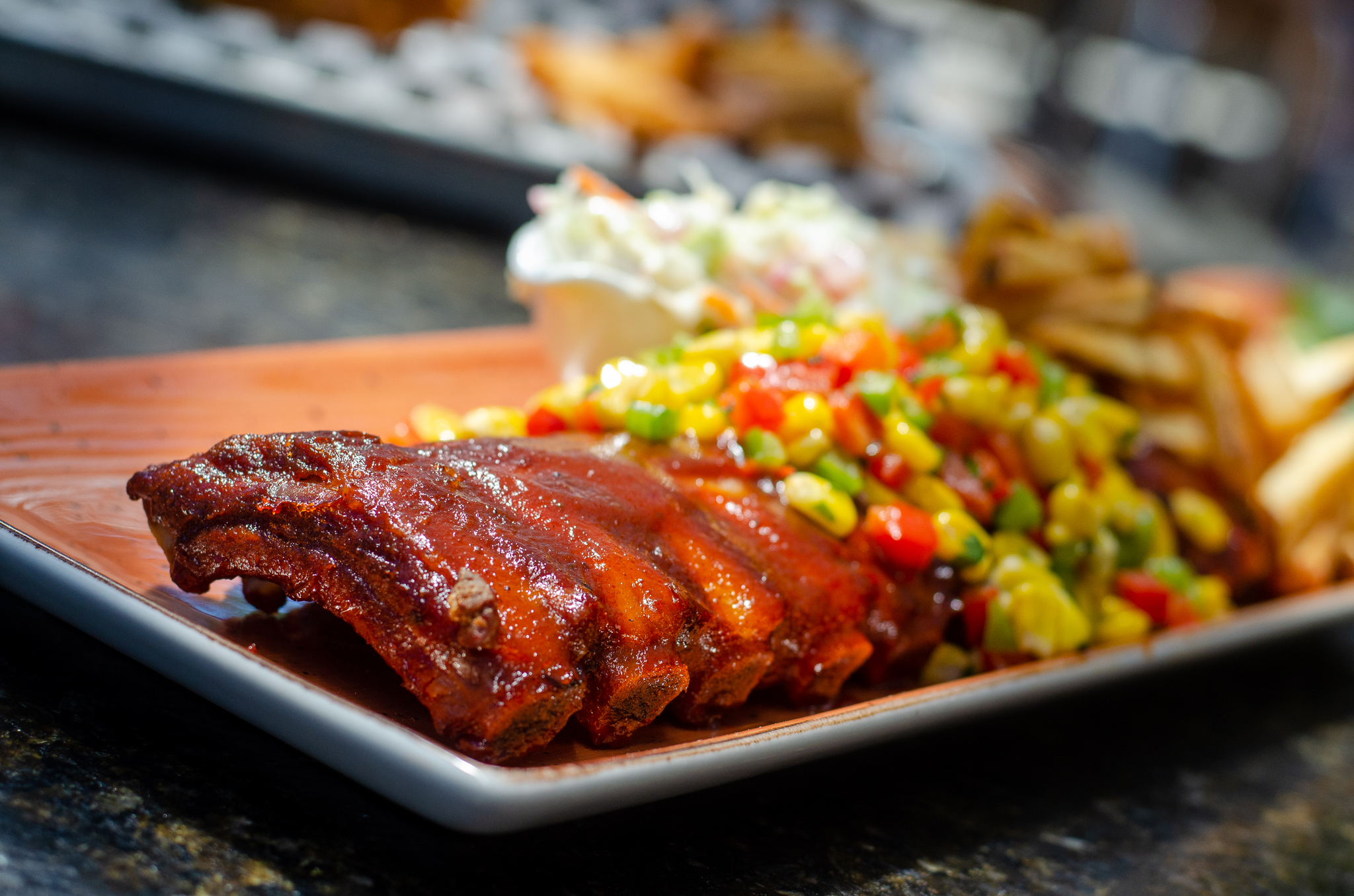 BBQ Pork Ribs from Parks & Rec in Windsor, Ontario.