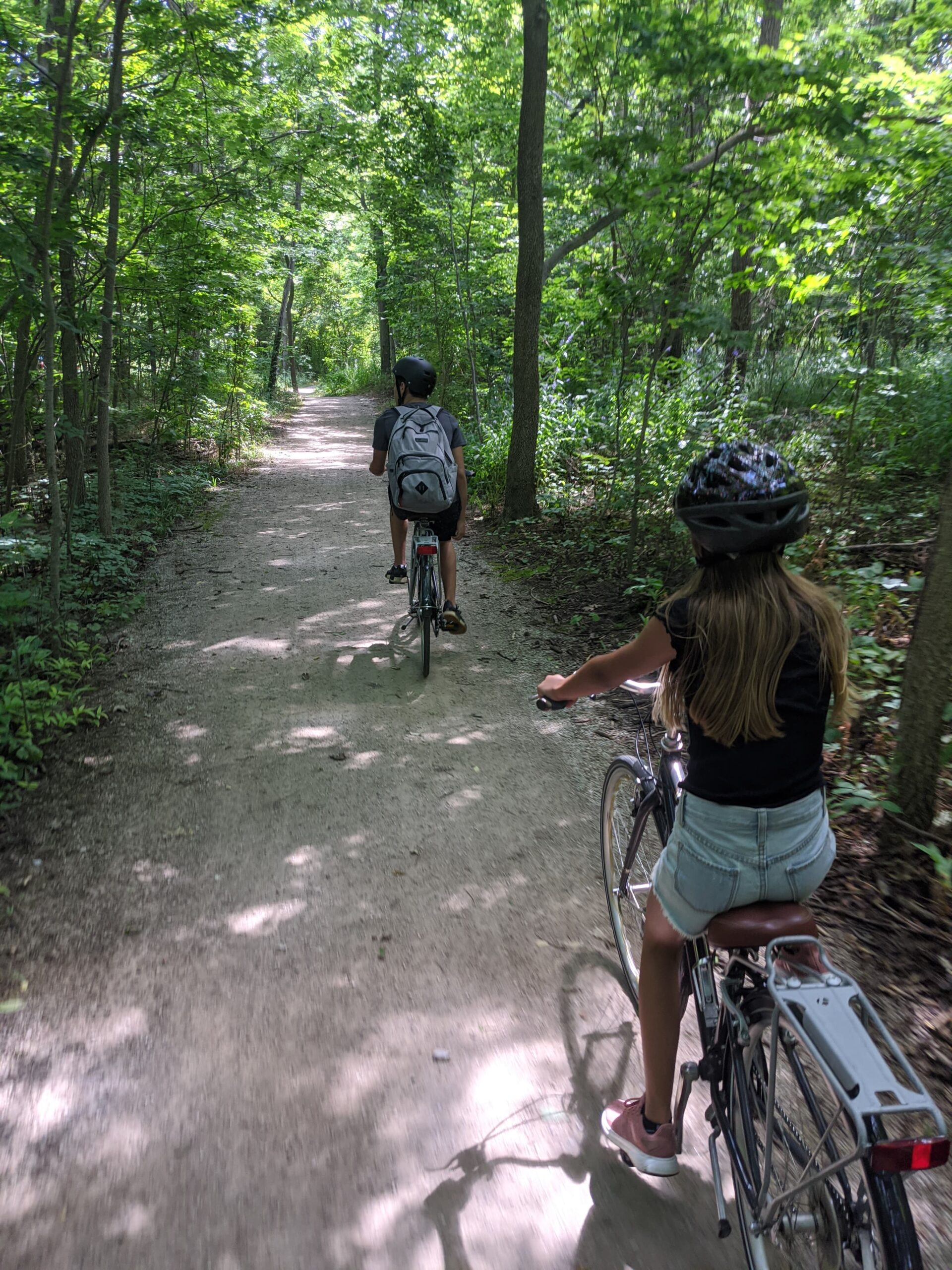 Cycling in Point Pelee National Park in Leamington, Ontario, with WindsorEats.