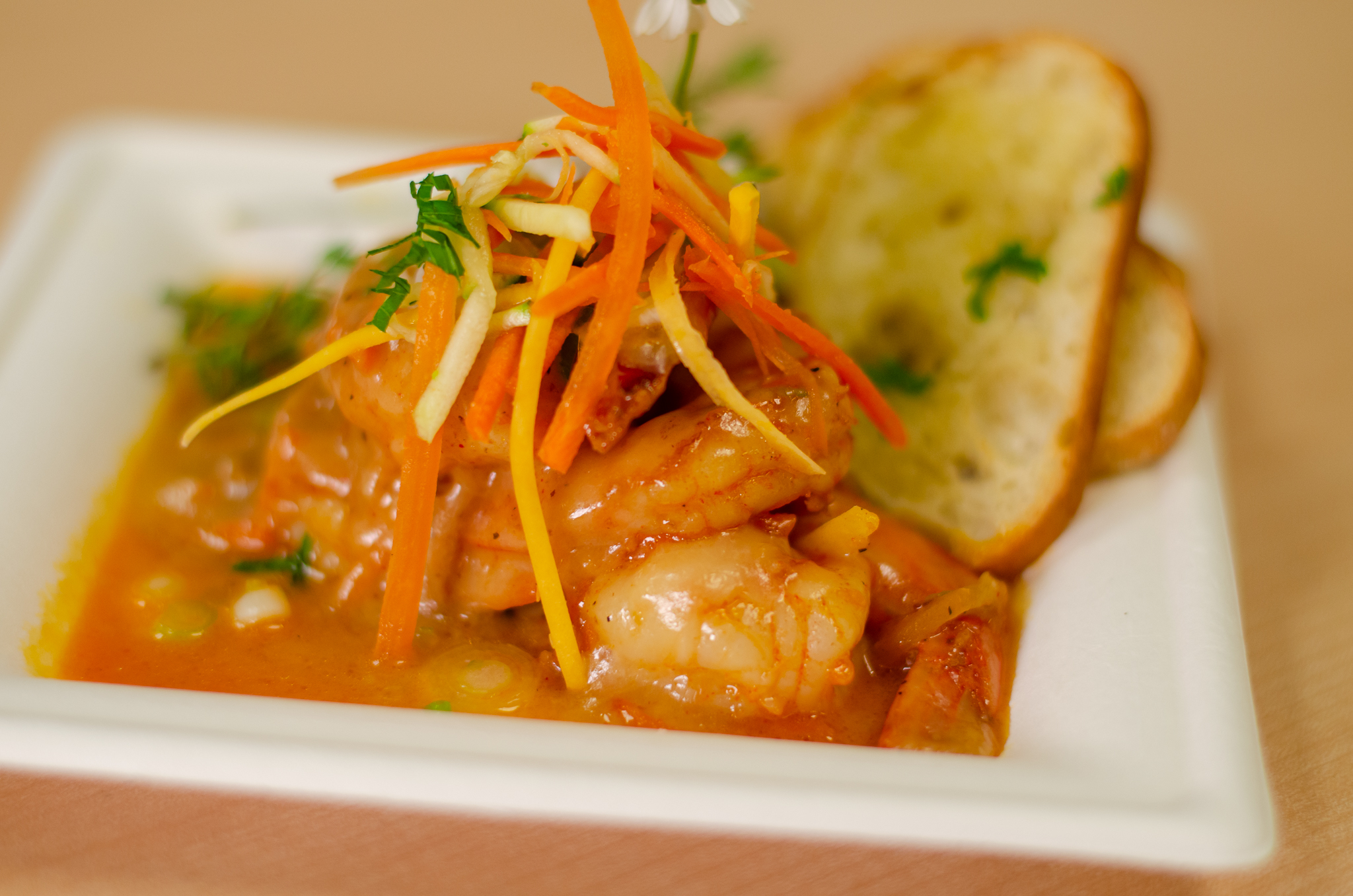 Garlic Cheddar Prawns from Chef Anthony Dalupan in Windsor, Ontario.