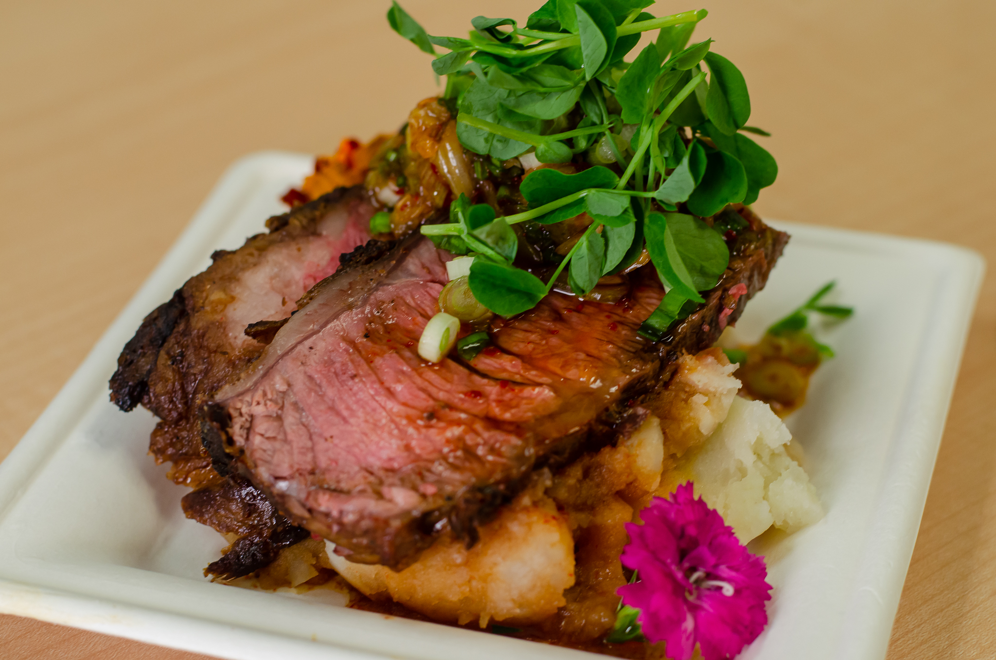 Grilled Beef Short Ribs from Chef Anthony Dalupan in Windsor, Ontario.