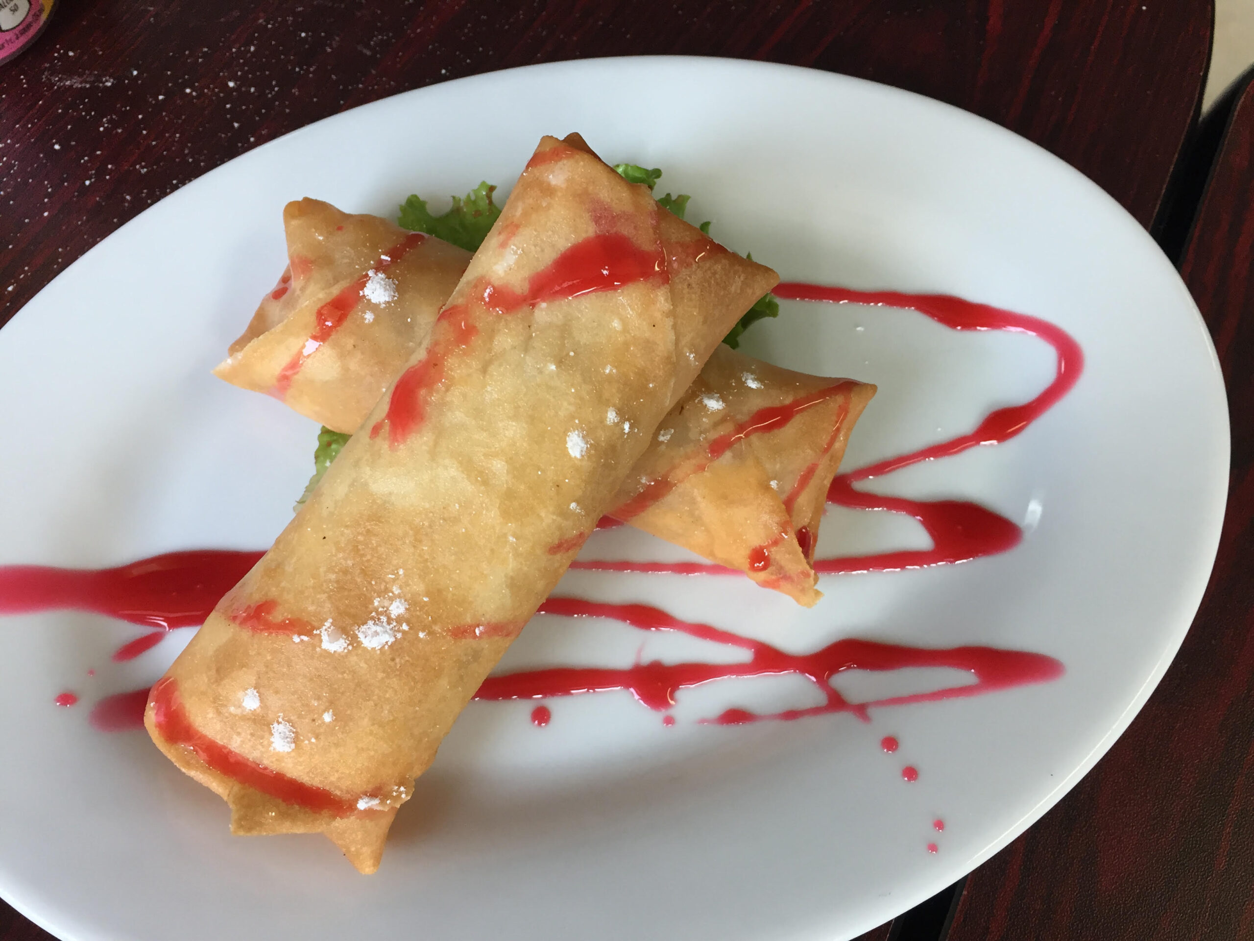 Turon from Tropical Hut Philippine Cuisine in Windsor, Ontario.